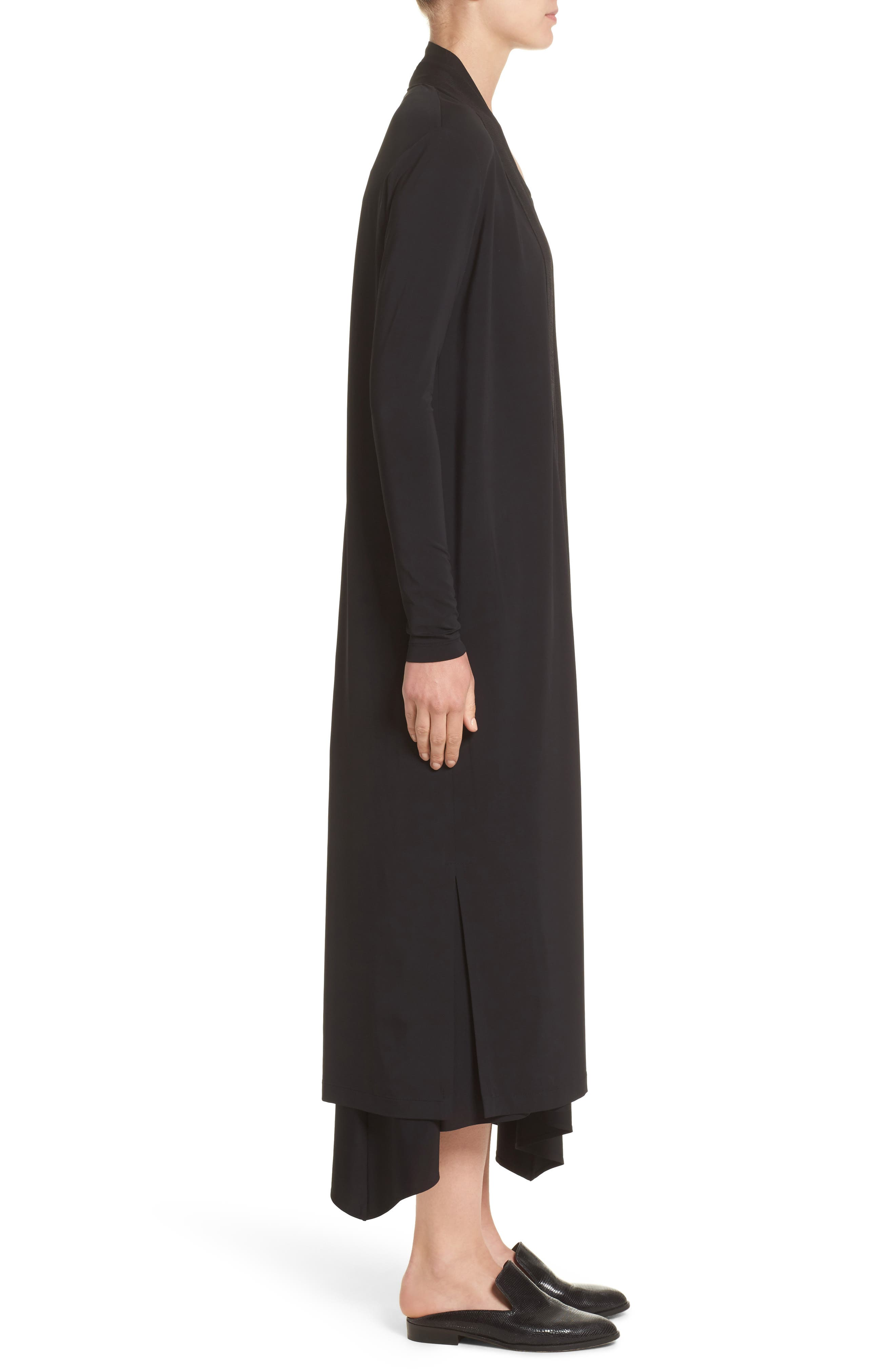 Cultivated Crepe Jersey Duster,                             Alternate thumbnail 3, color,                             001
