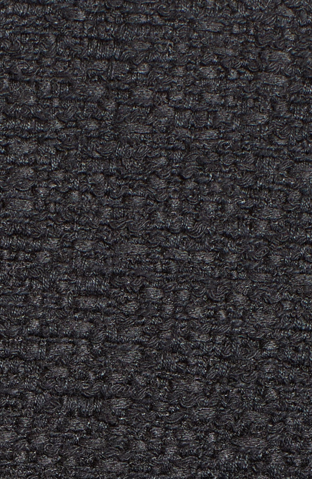 Asymmetrical Tweed Jacket,                             Alternate thumbnail 5, color,                             001