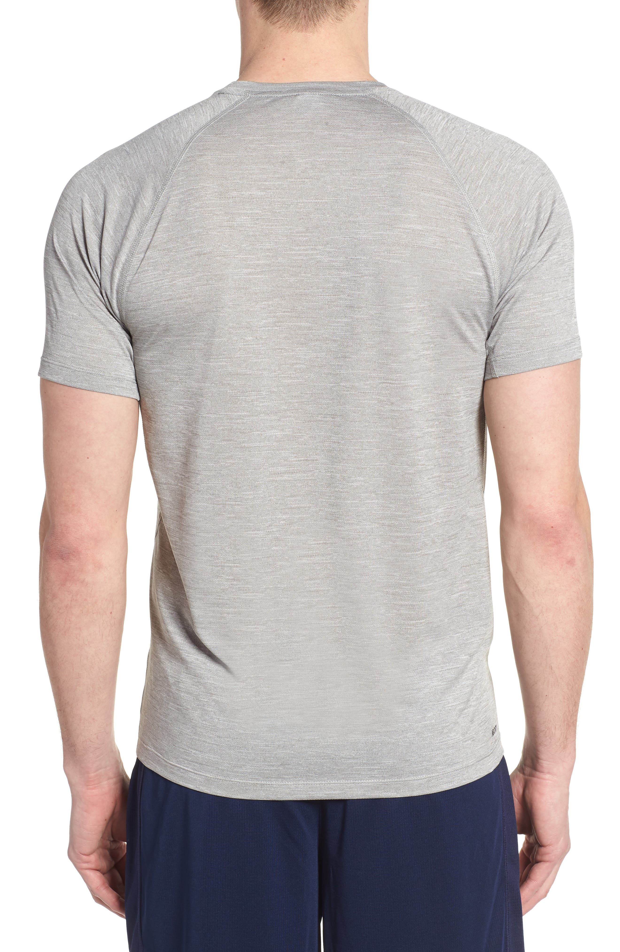 Tenacity Crewneck T-Shirt,                             Alternate thumbnail 2, color,                             ATHLETIC GREY