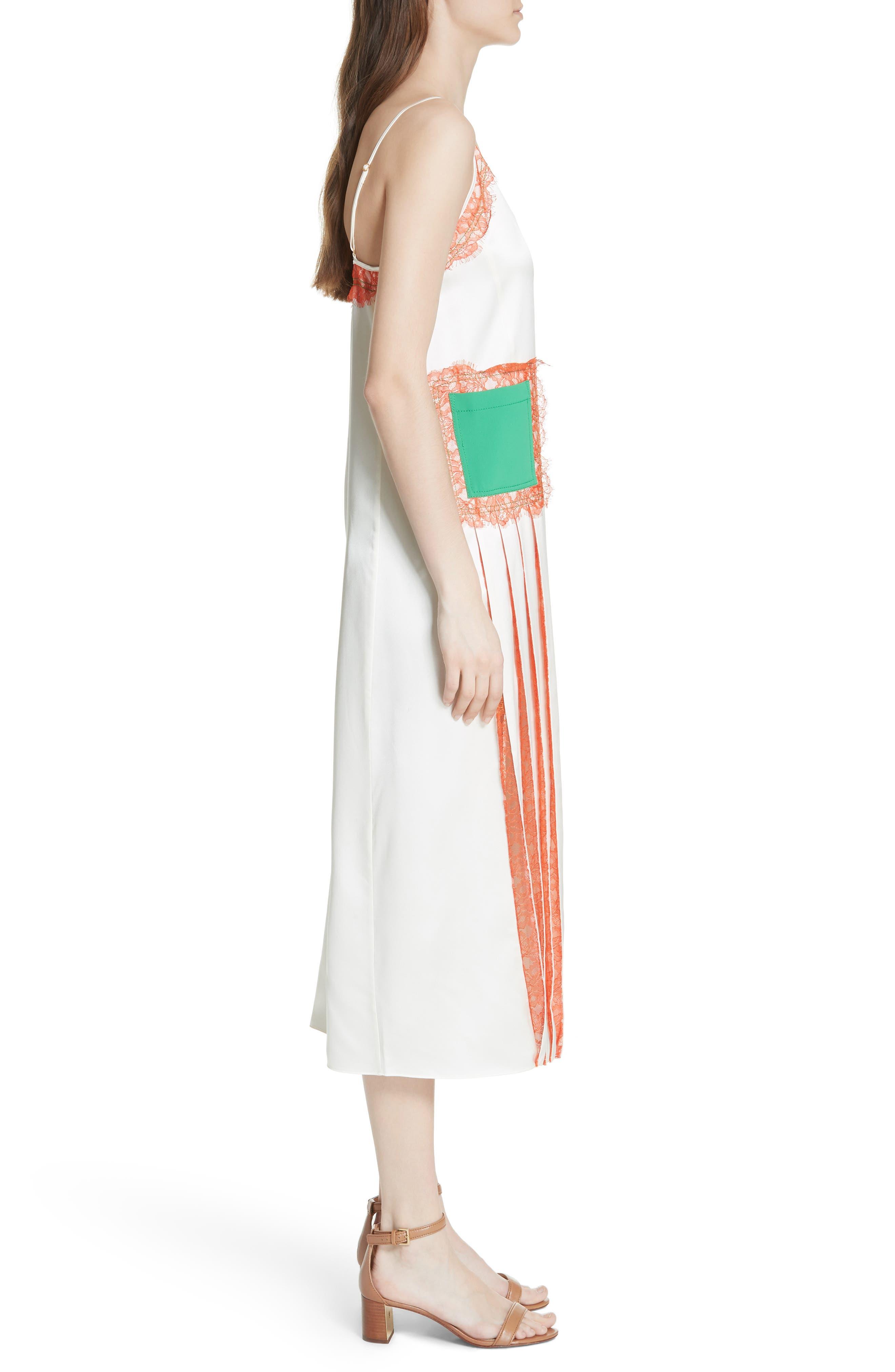Claire Silk Midi Dress,                             Alternate thumbnail 3, color,                             104