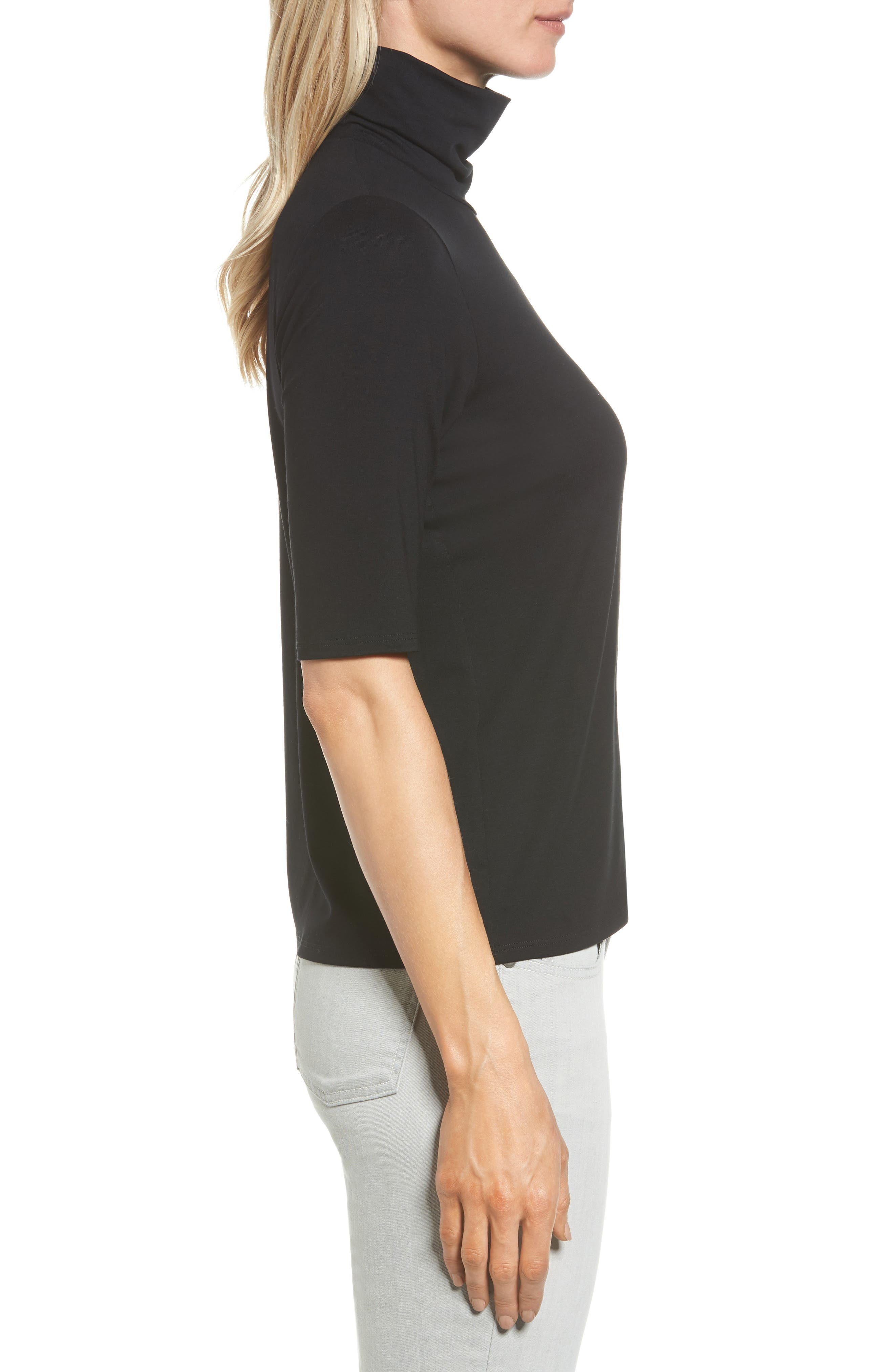 Scrunch Neck Jersey Top,                             Alternate thumbnail 16, color,