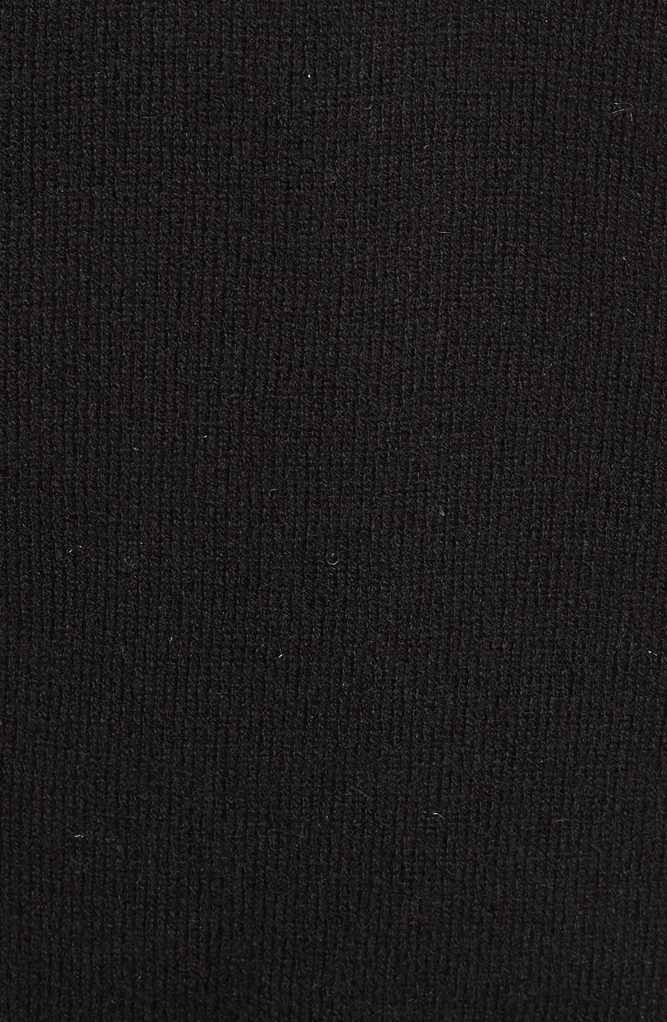 Lucinda Crop Sweater Vest & Shirt,                             Alternate thumbnail 5, color,                             007