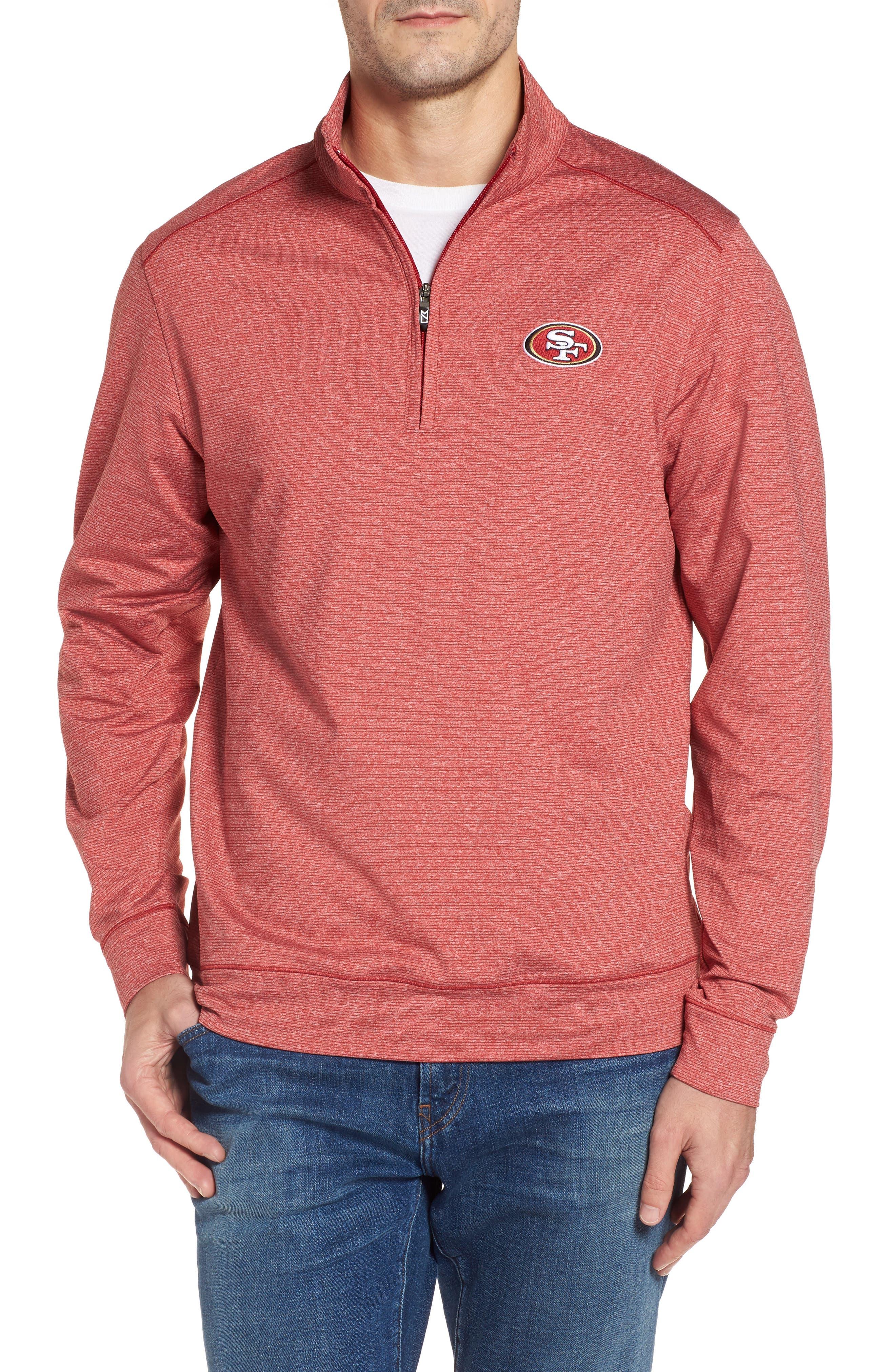 Shoreline - San Francisco 49ers Half Zip Pullover,                             Main thumbnail 1, color,                             615