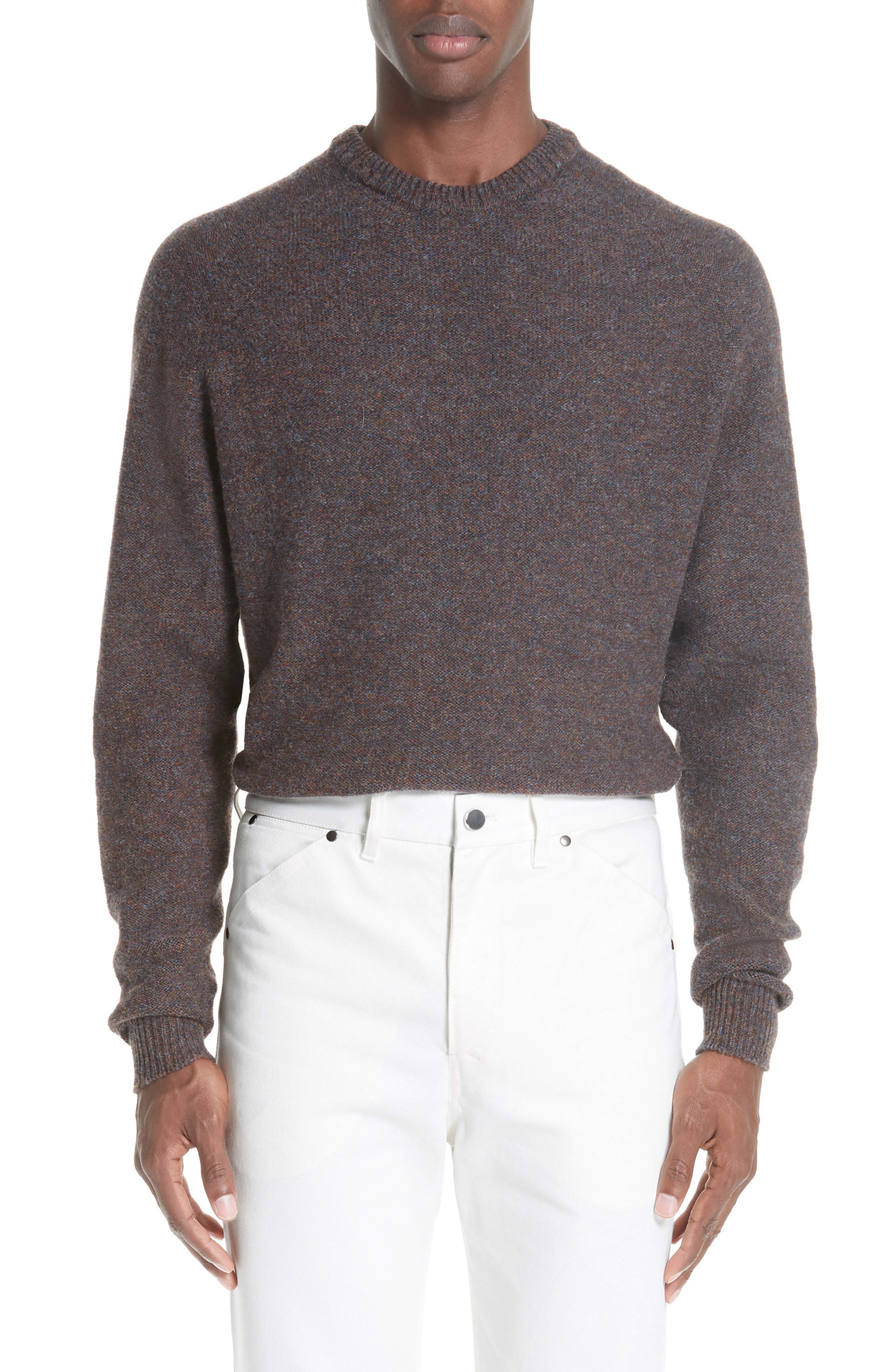 Lemaire Crew Seamless Merino Sweater, Grey