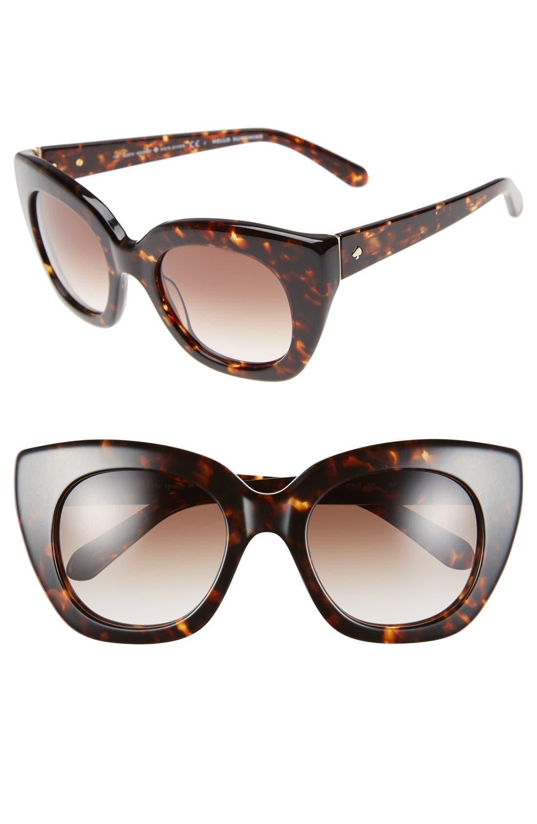 'narelle' 51mm retro sunglasses,                             Main thumbnail 2, color,