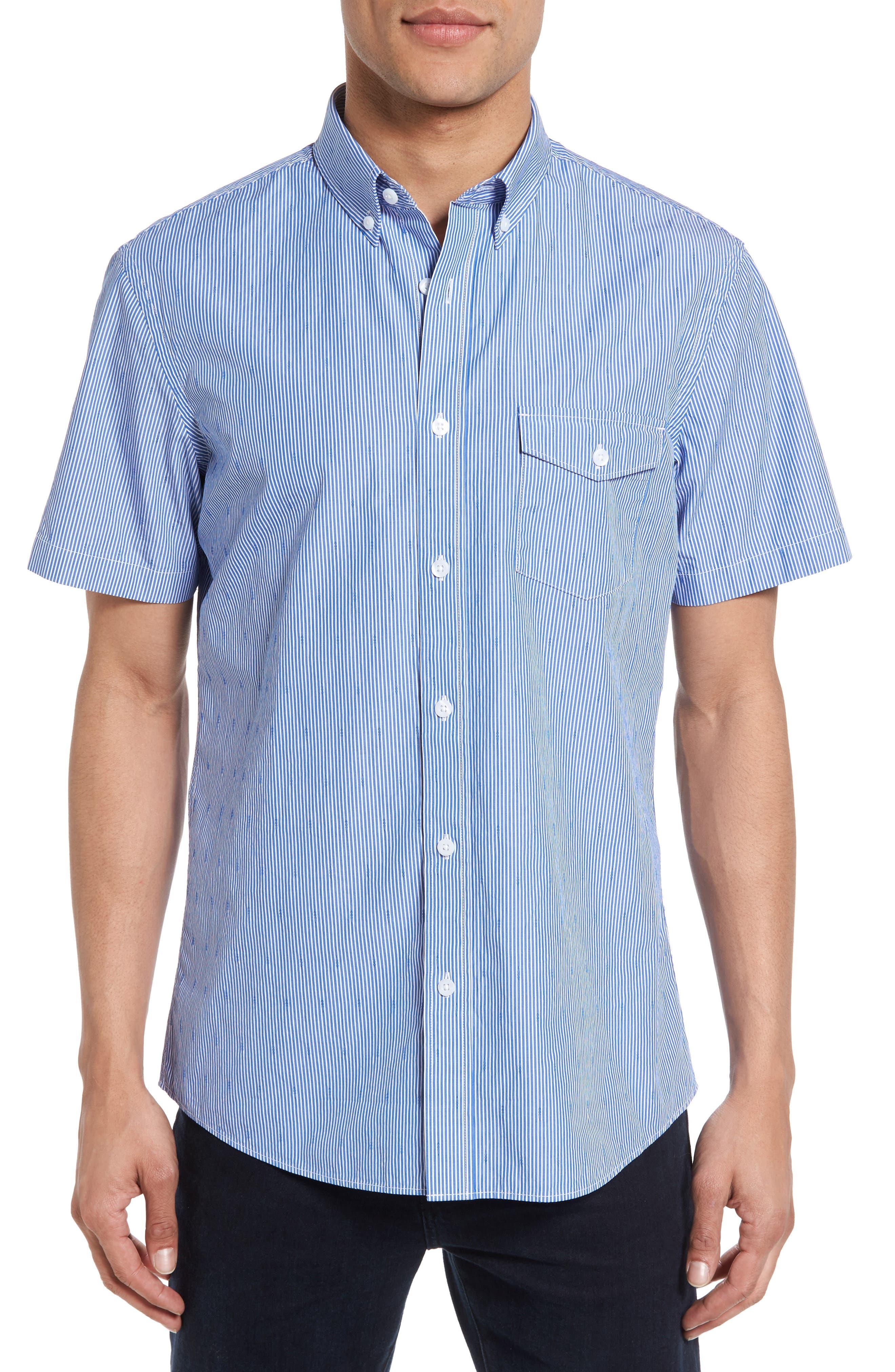 Slim Fit Stripe Sport Shirt,                         Main,                         color, 420