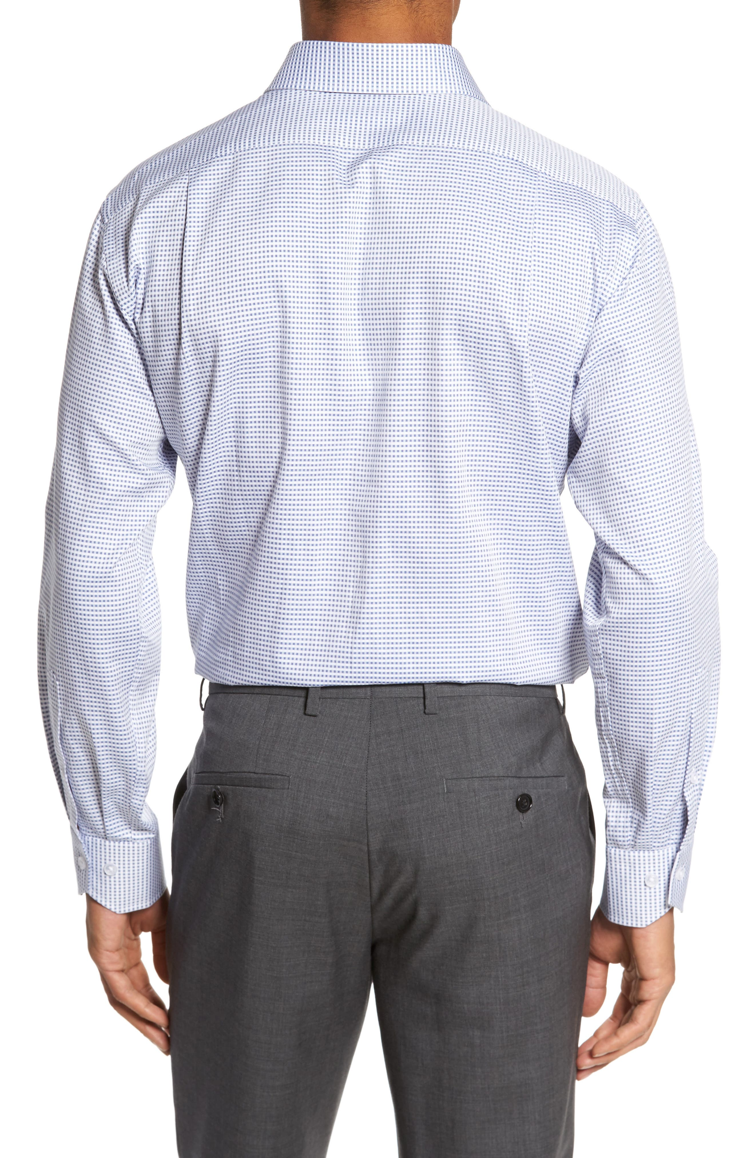 Trim Fit Check Dress Shirt,                             Alternate thumbnail 2, color,                             420