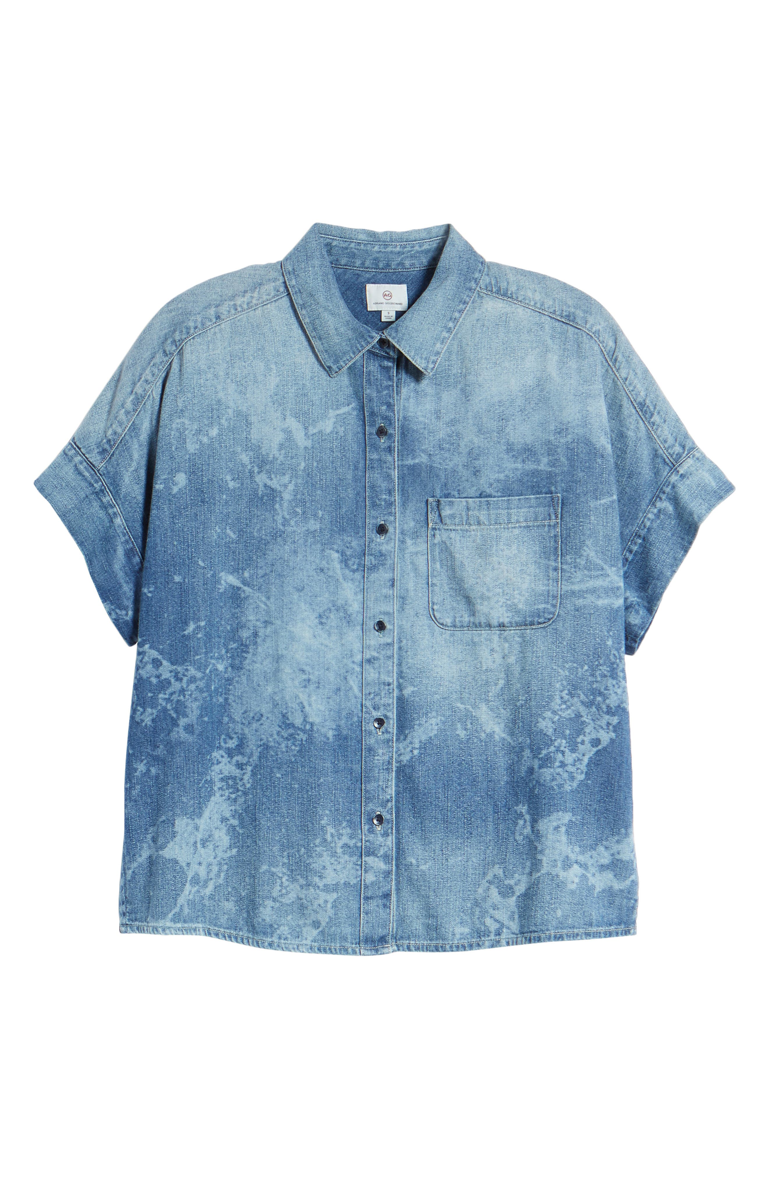 Hadley Denim Shirt,                             Alternate thumbnail 7, color,                             SUBLIME