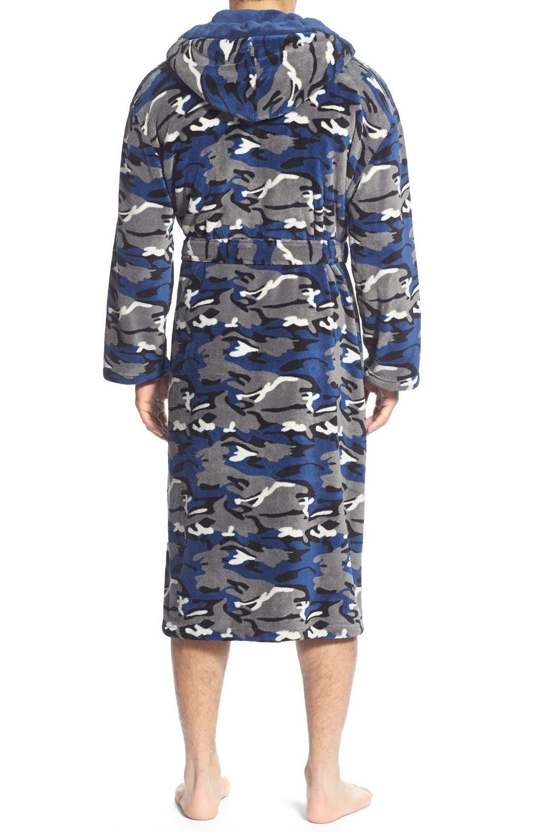 Camo Fleece Robe,                             Alternate thumbnail 2, color,                             411