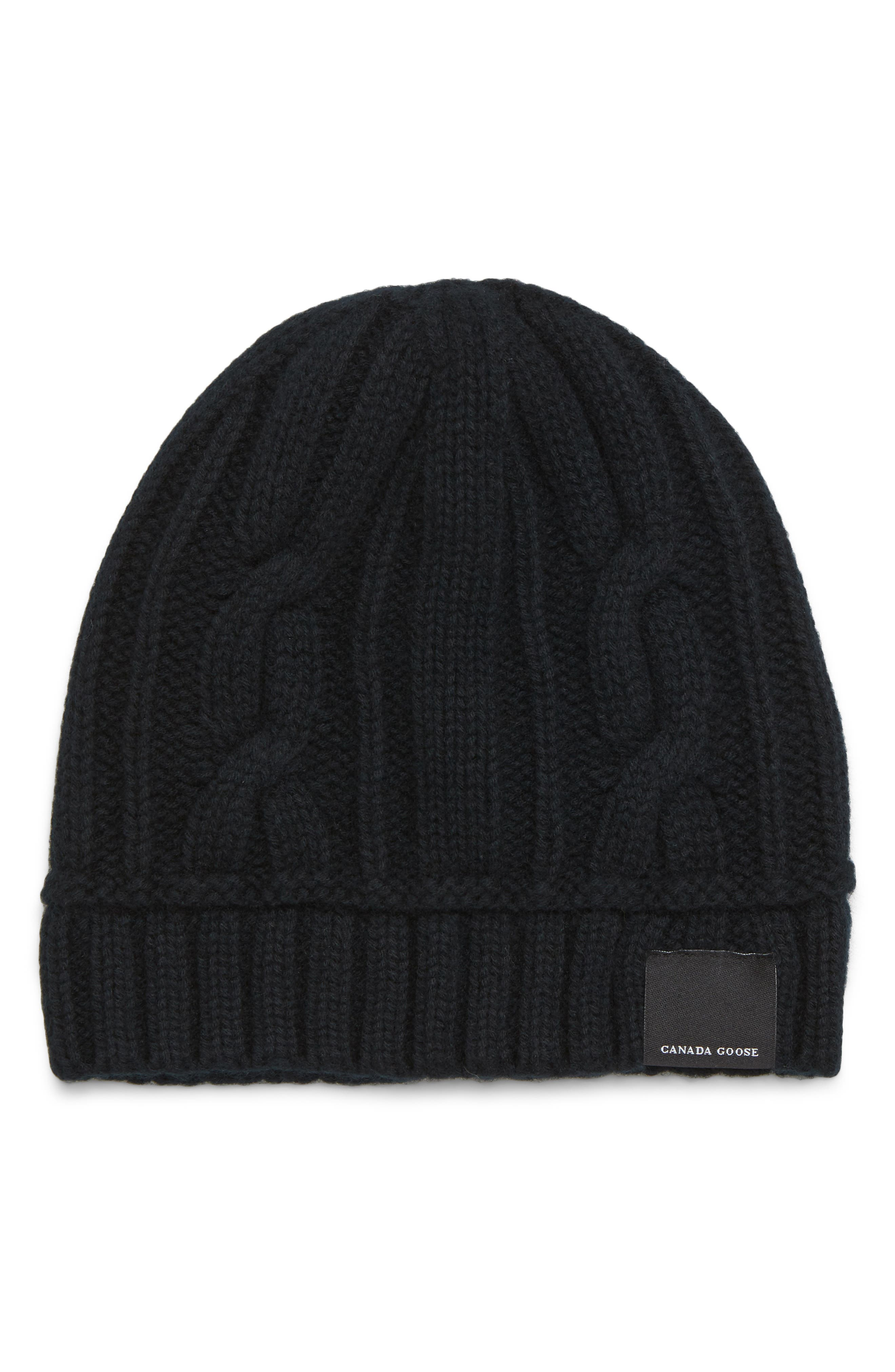 Cabled Merino Wool Toque Beanie - Black