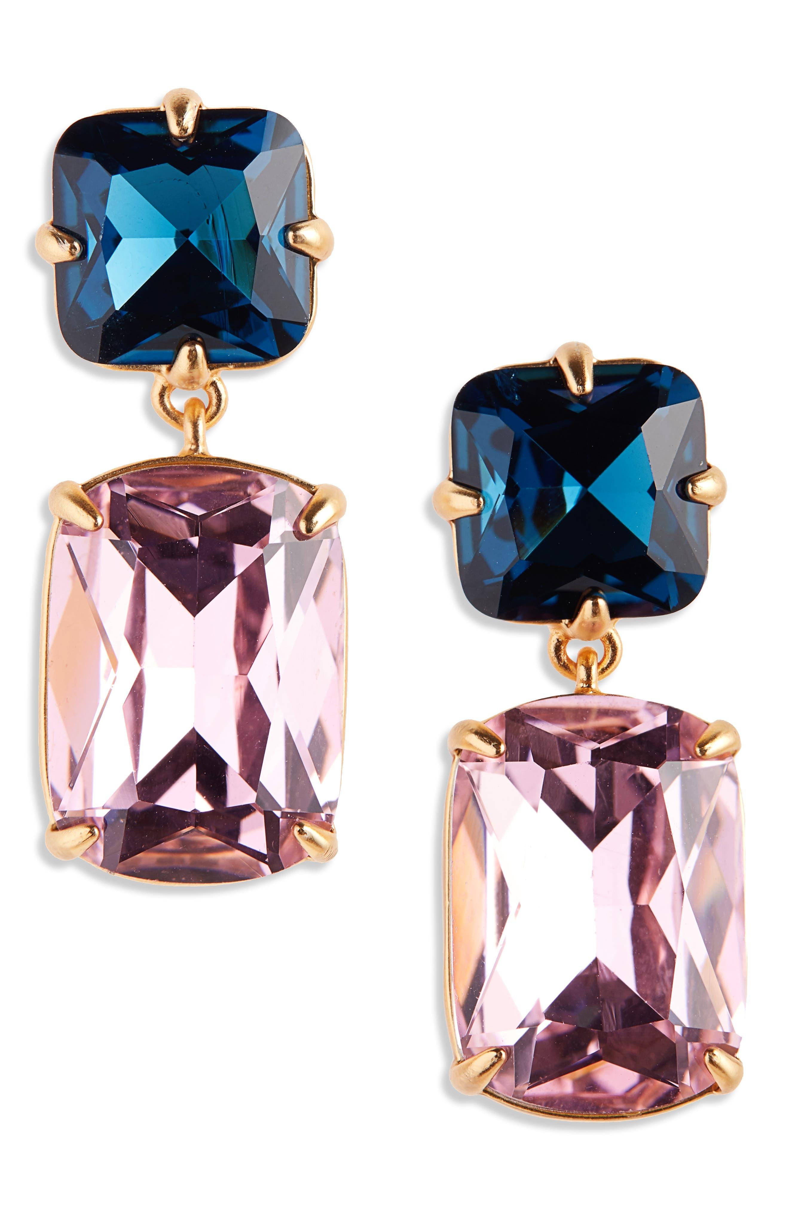 Rectangle Stone Drop Earrings,                         Main,                         color, 650