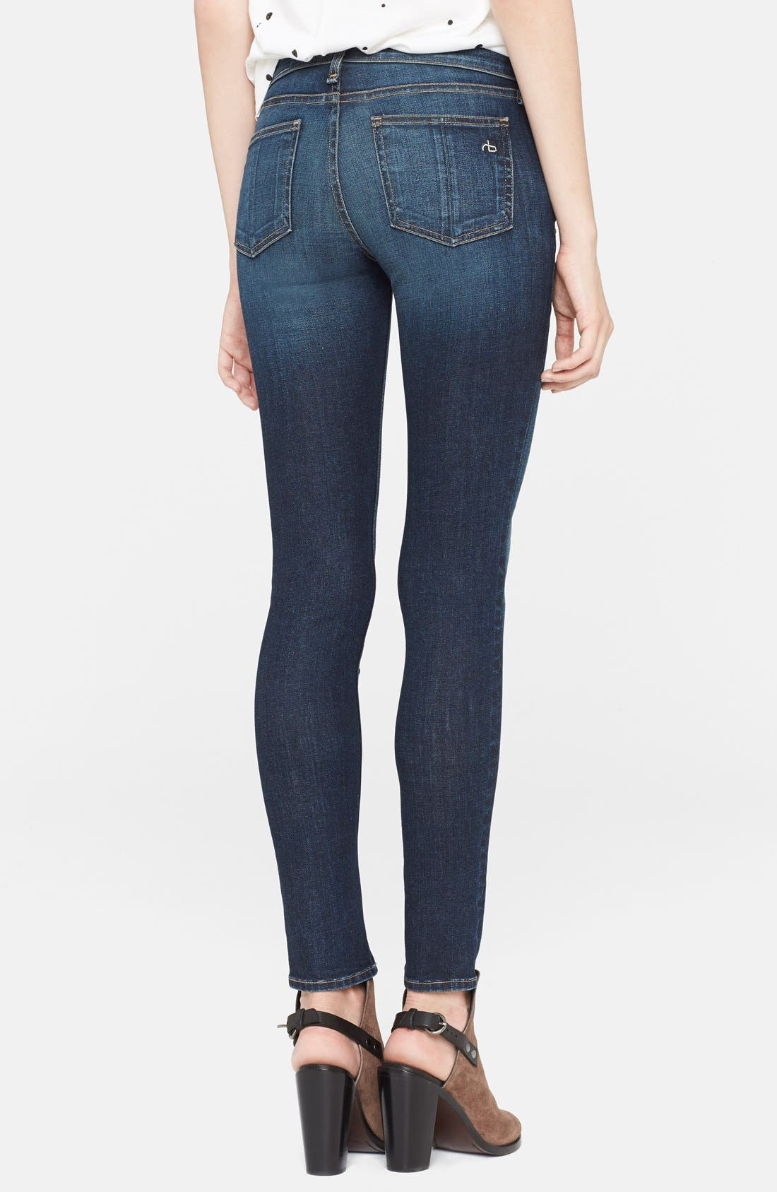 'The Skinny' Stretch Jeans,                             Alternate thumbnail 33, color,