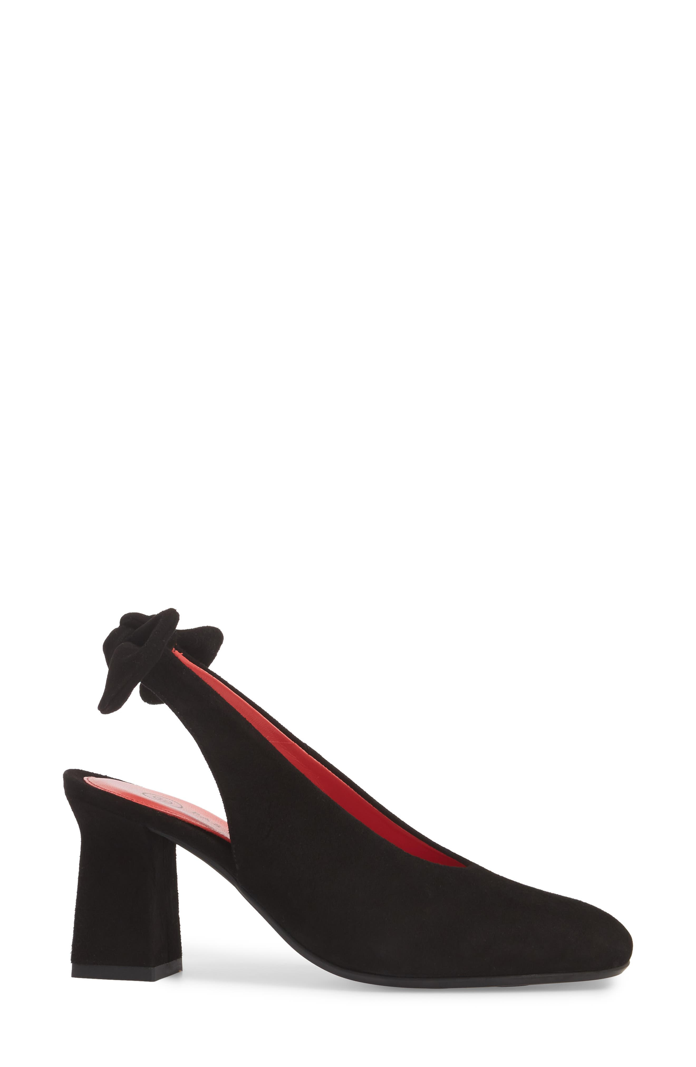 PAS DE ROUGE,                             Chantal Pump,                             Alternate thumbnail 3, color,                             001