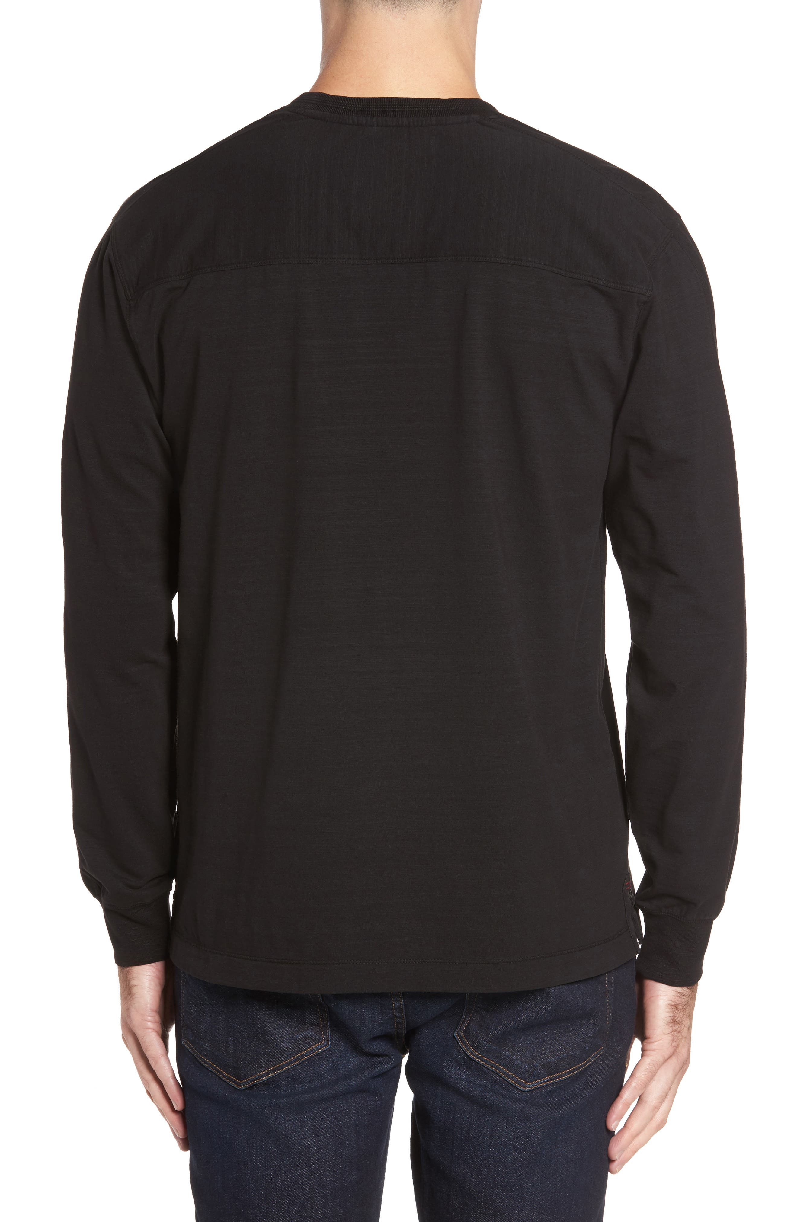 Vinn Slubbed Long Sleeve V-Neck T-Shirt,                             Alternate thumbnail 2, color,                             001