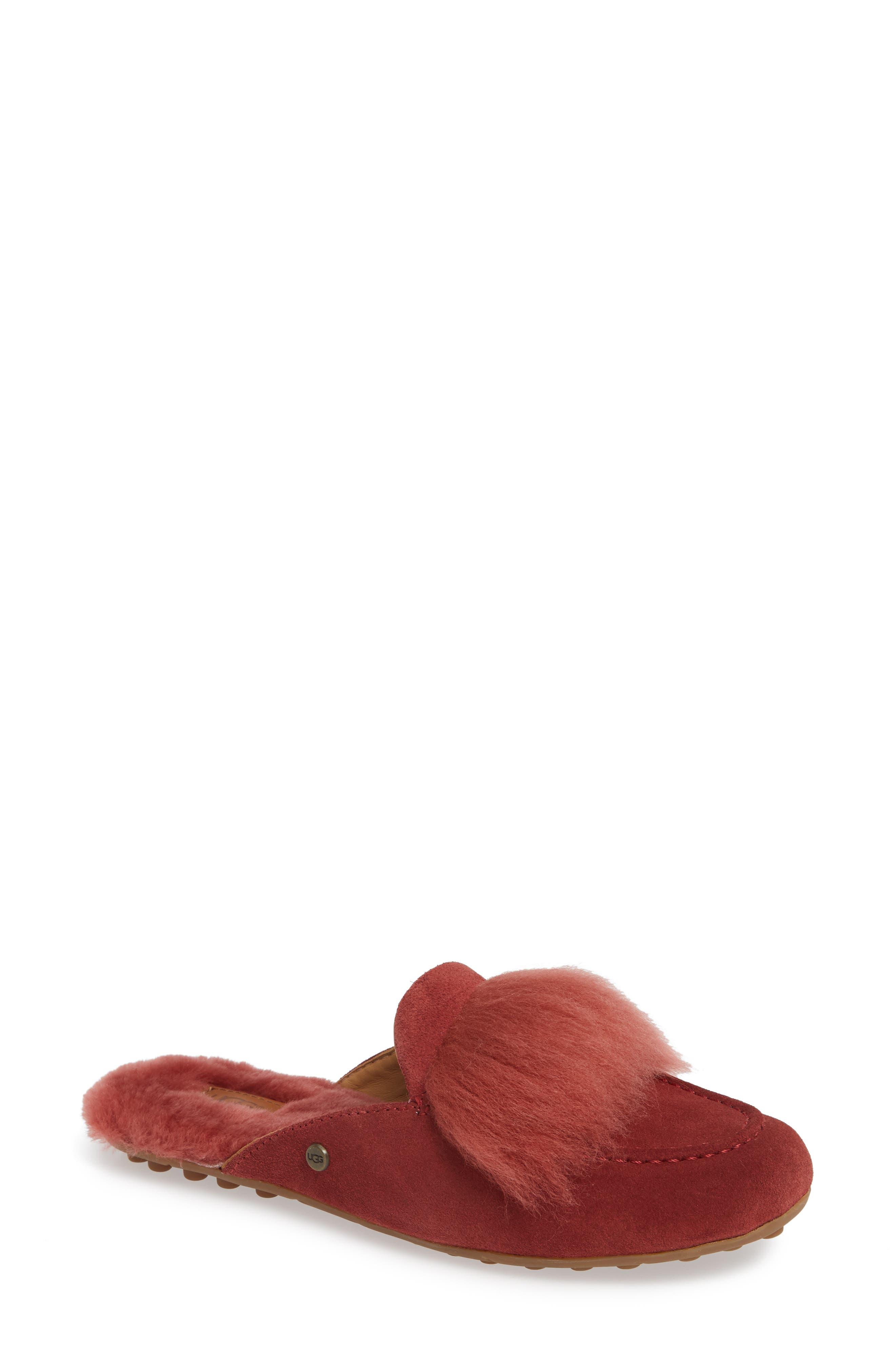 Ugg Shaine Wisp Genuine Shearling Slipper, Red
