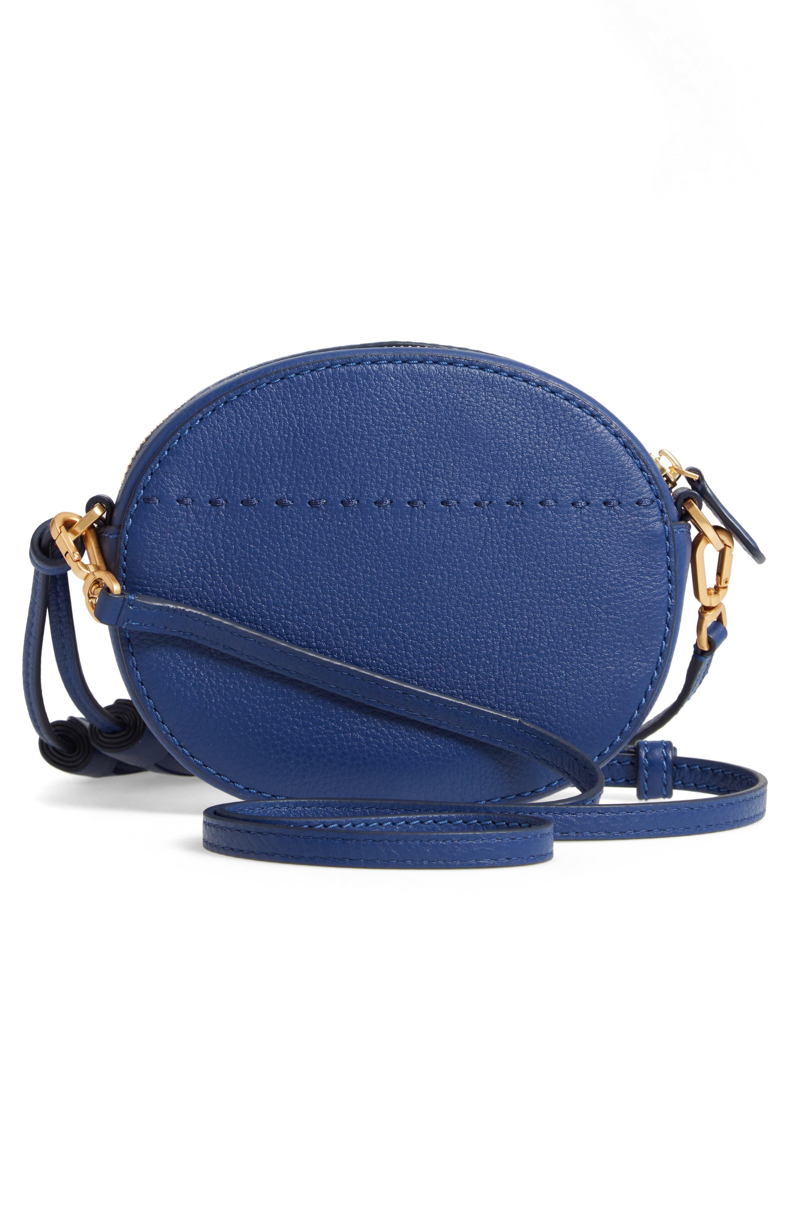 McGraw Leather Crossbody Bag,                             Alternate thumbnail 3, color,                             BRIGHT INDIGO