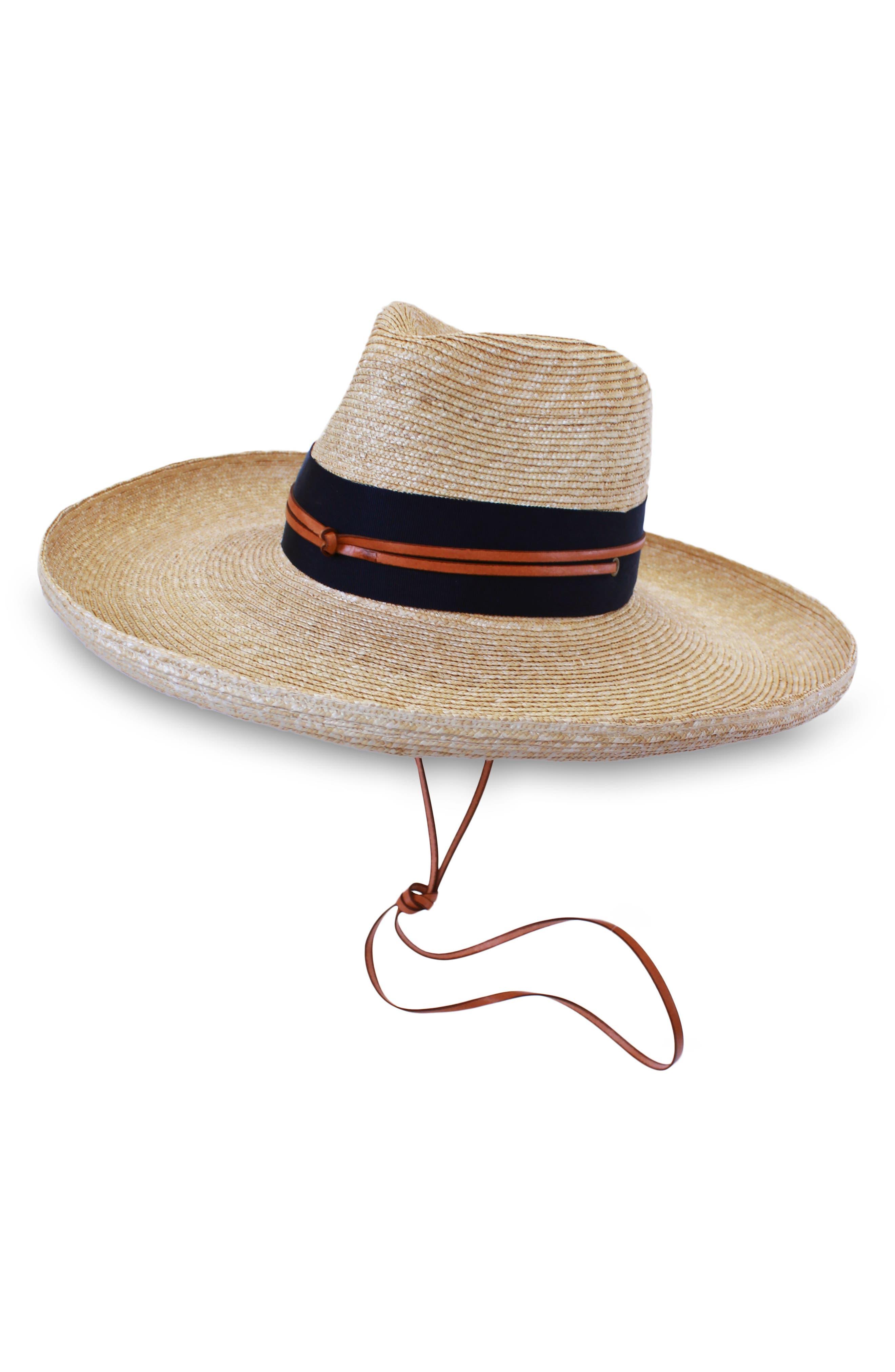 Comargo Raffia Hat,                             Main thumbnail 1, color,                             NATURAL/ NAVY