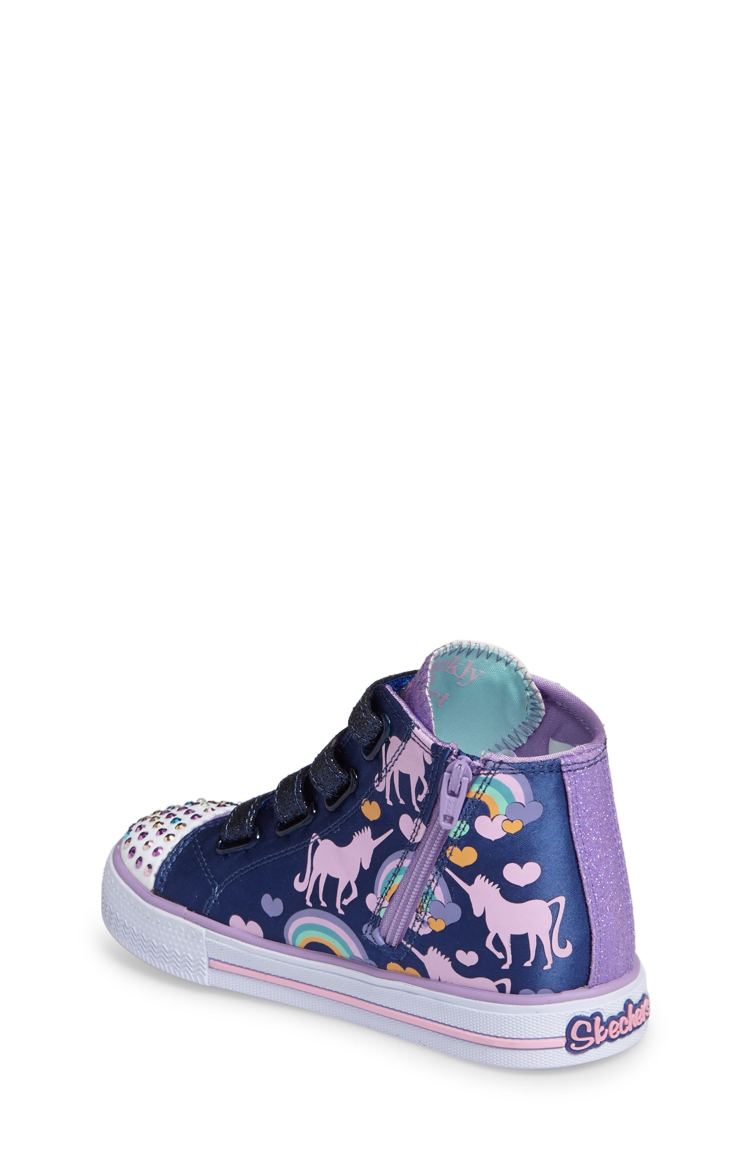 Twinkle Toes Shuffles High Top Sneaker,                             Alternate thumbnail 2, color,                             400