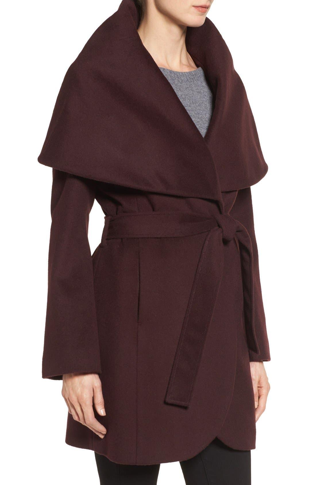 T Tahari Wool Blend Belted Wrap Coat,                             Alternate thumbnail 38, color,