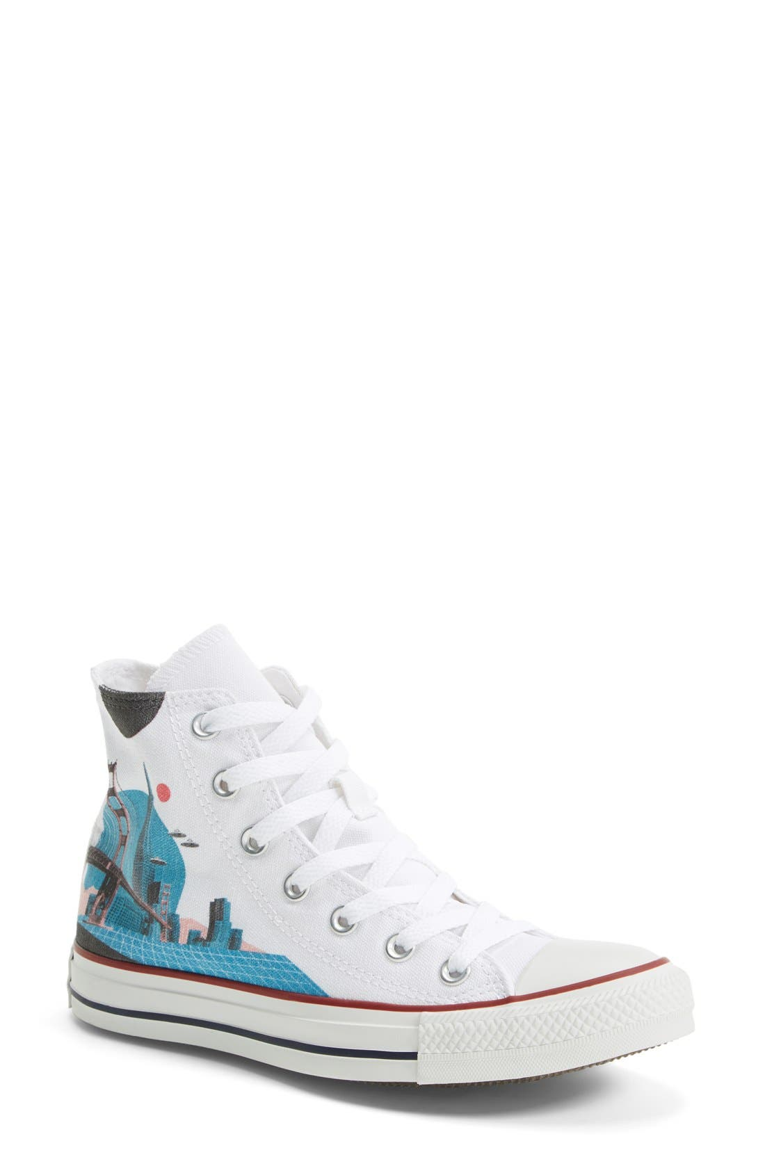 Chuck Taylor<sup>®</sup> All Star<sup>®</sup> 'Made By You - San Francisco' High Top Sneaker, Main, color, 102