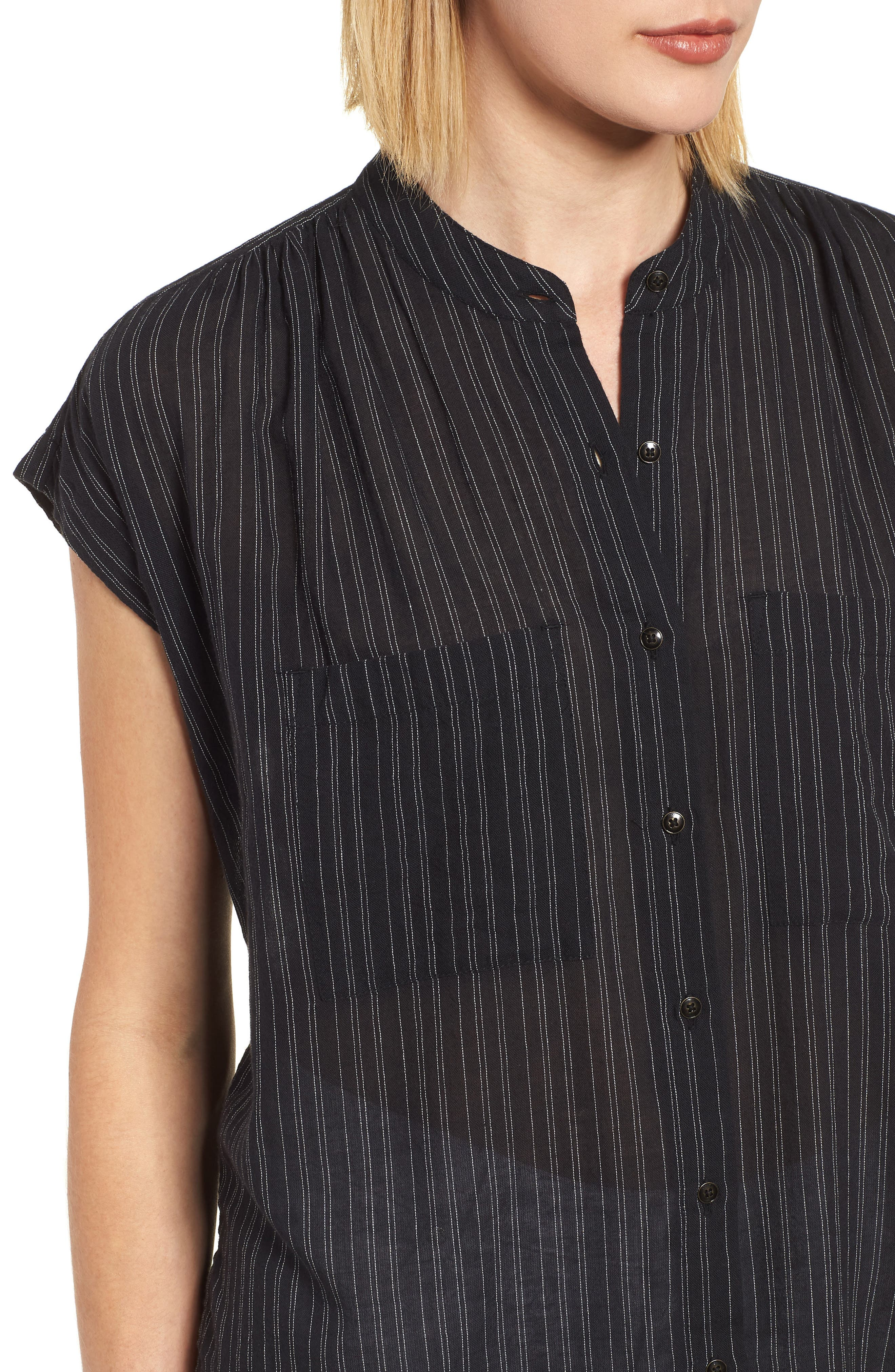 Button Front Longline Top,                             Alternate thumbnail 26, color,