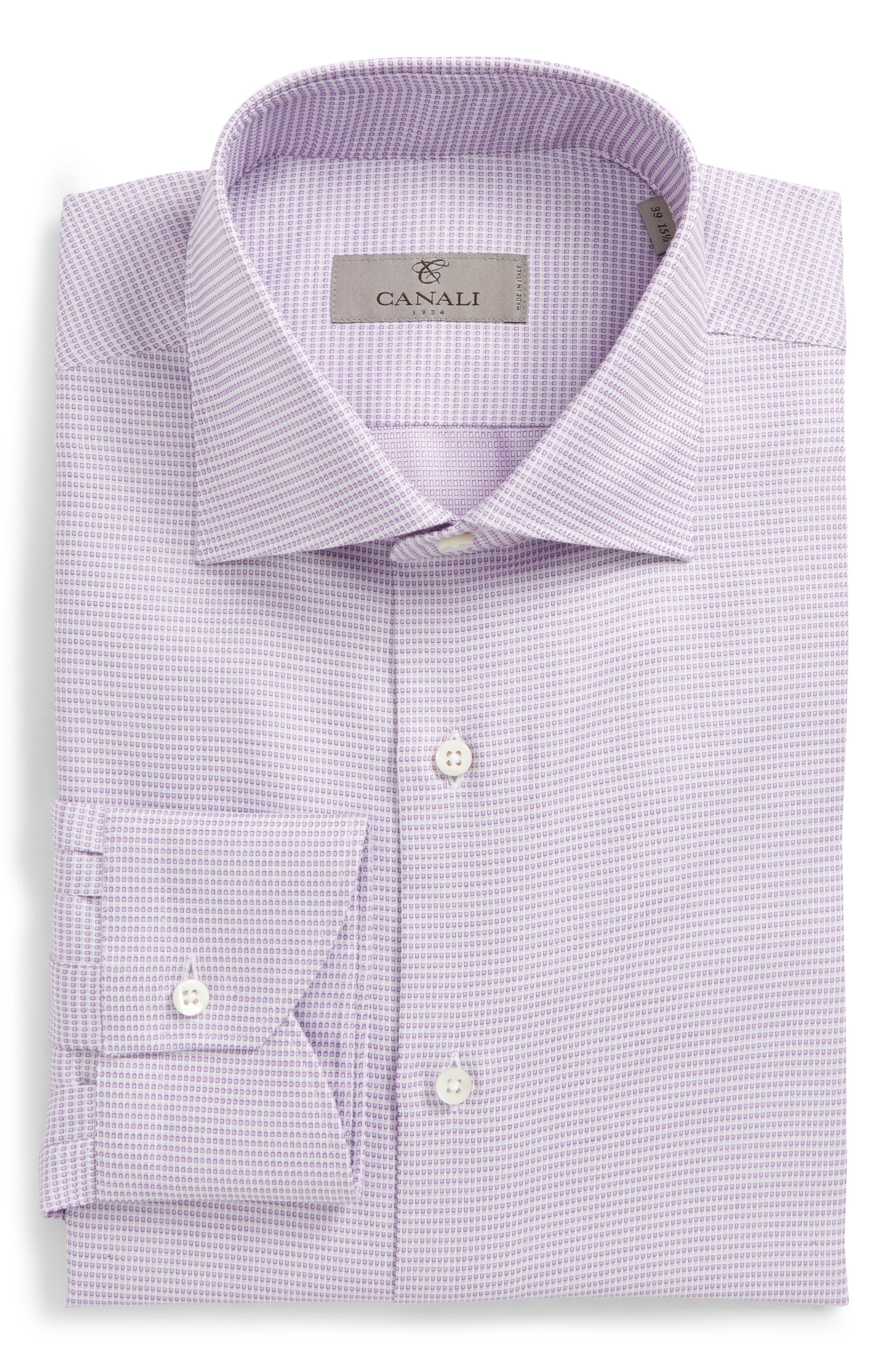 Regular Fit Geometric Dress Shirt,                             Main thumbnail 1, color,