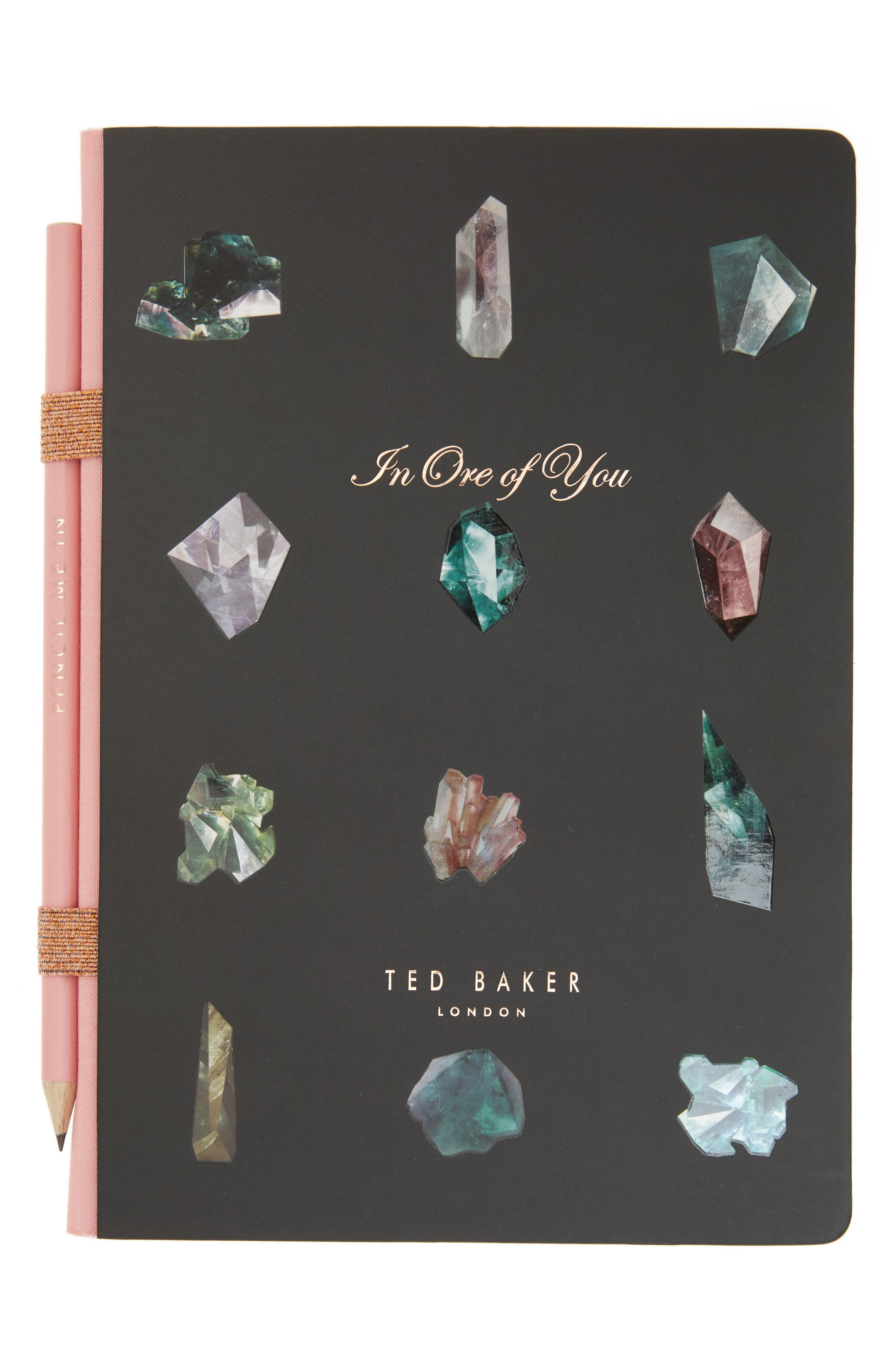Wild and Wolf x Ted Baker London In Ore of You Gemstone Notebook with Pencil,                         Main,                         color,