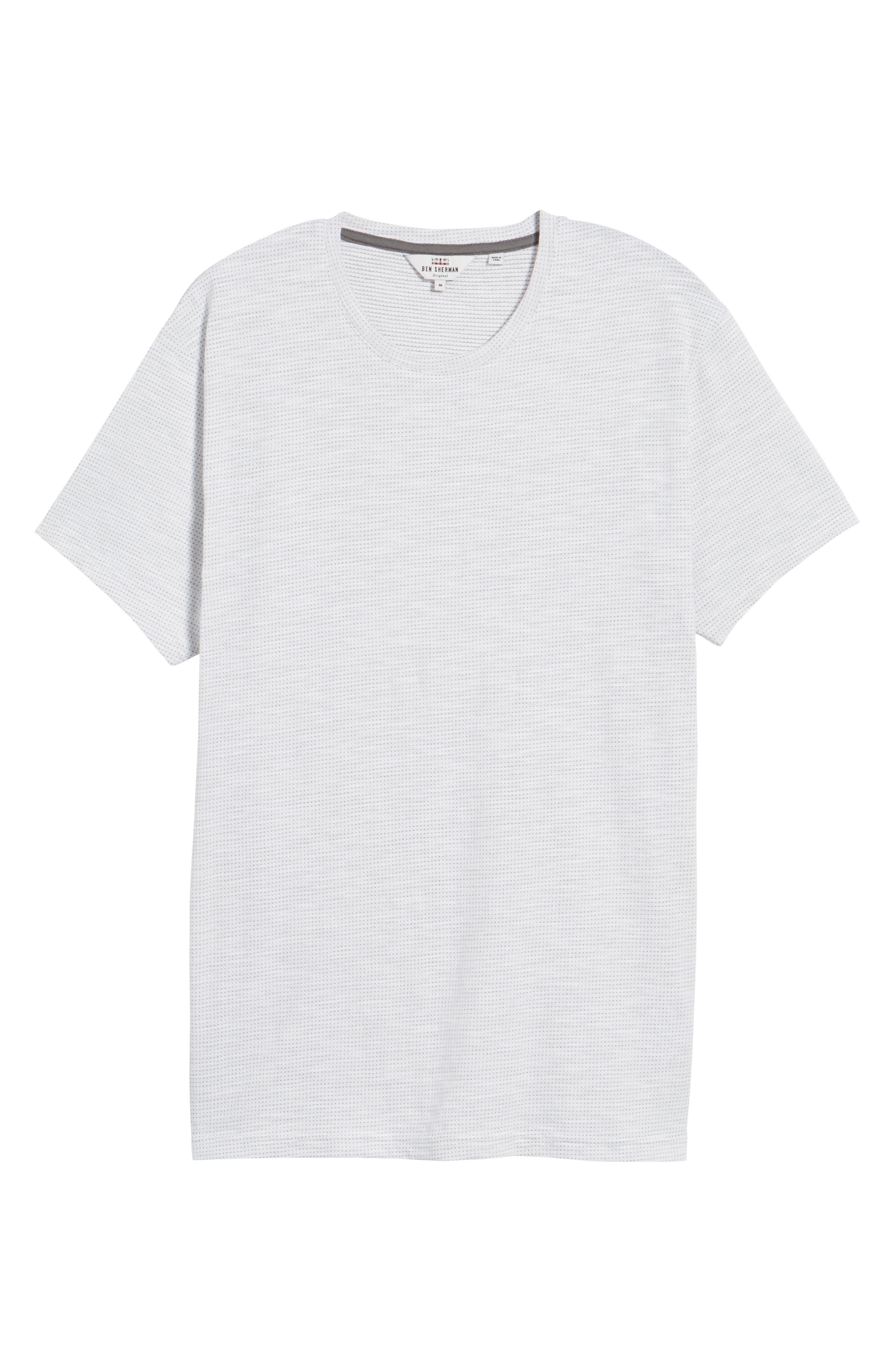 Slub Jacquard T-Shirt,                             Alternate thumbnail 6, color,                             111