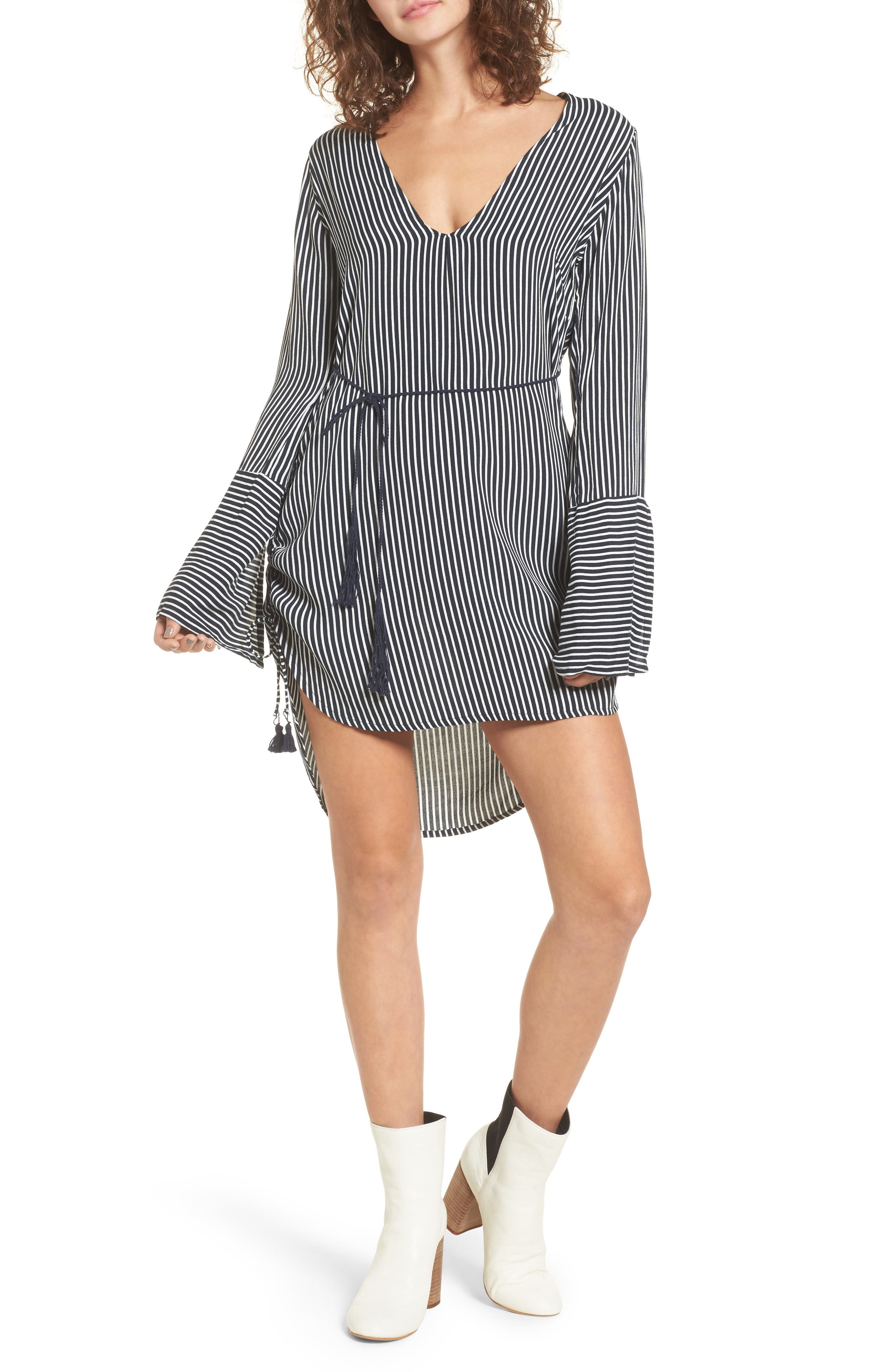 Neroli Stripe Dress,                         Main,                         color, 400