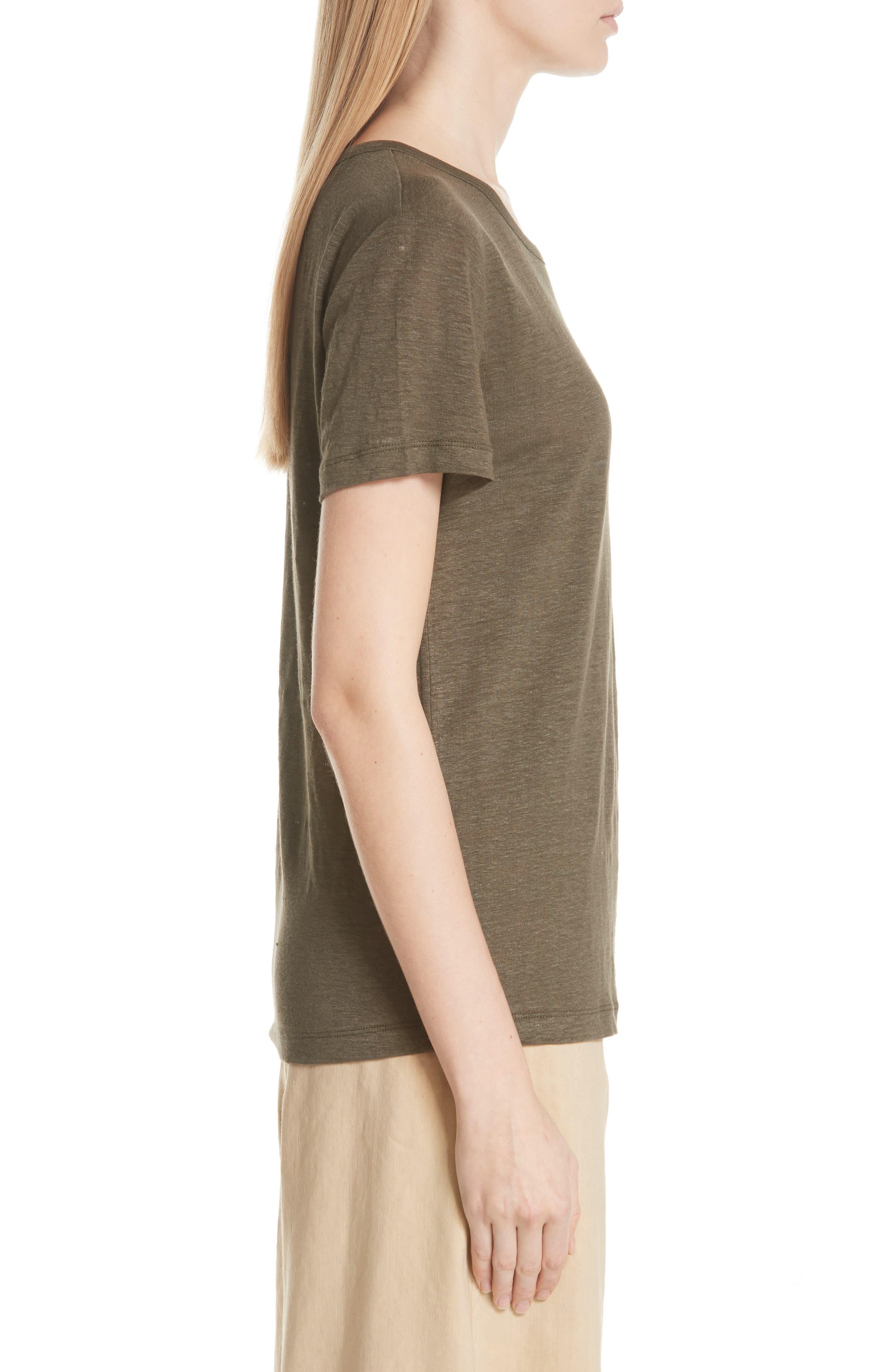 Linen Short Sleeve Top,                             Alternate thumbnail 6, color,