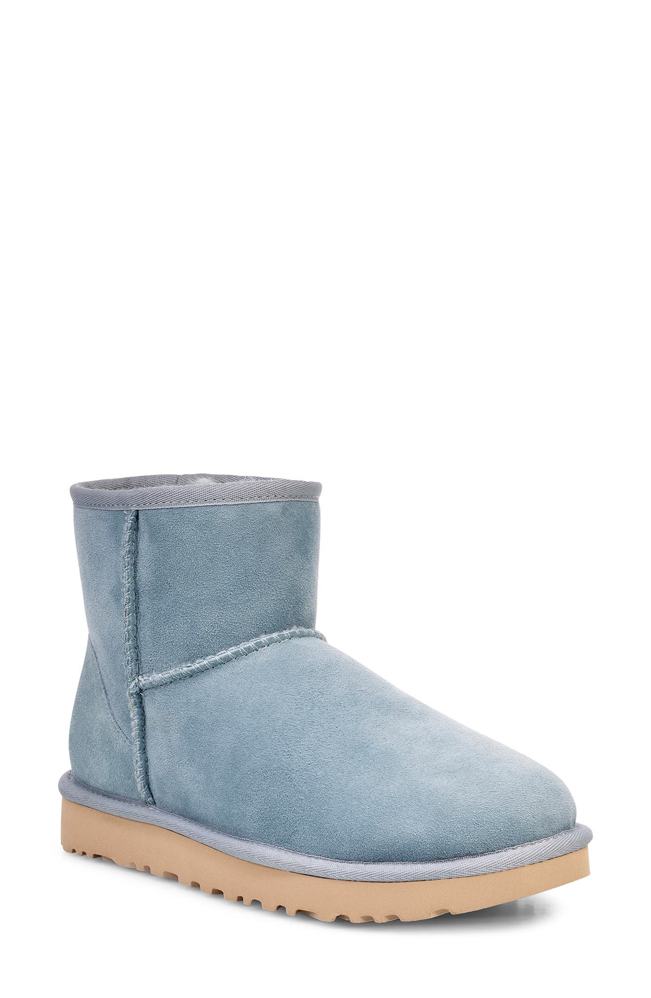 'Classic Mini II' Genuine Shearling Lined Boot,                             Main thumbnail 1, color,                             SUCCULENT SUEDE