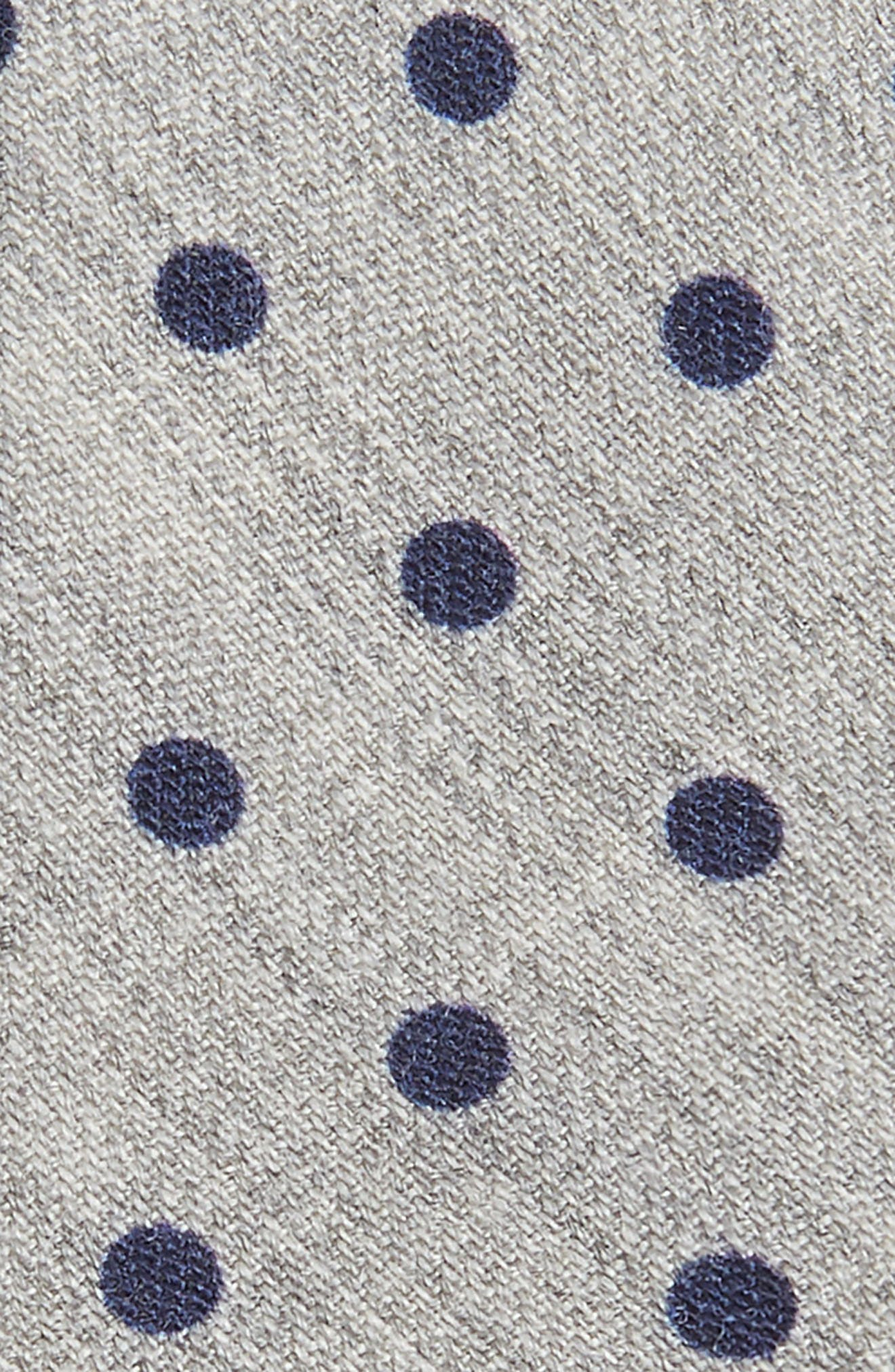Dot Wool Skinny Tie,                             Alternate thumbnail 2, color,                             LIGHT GREY