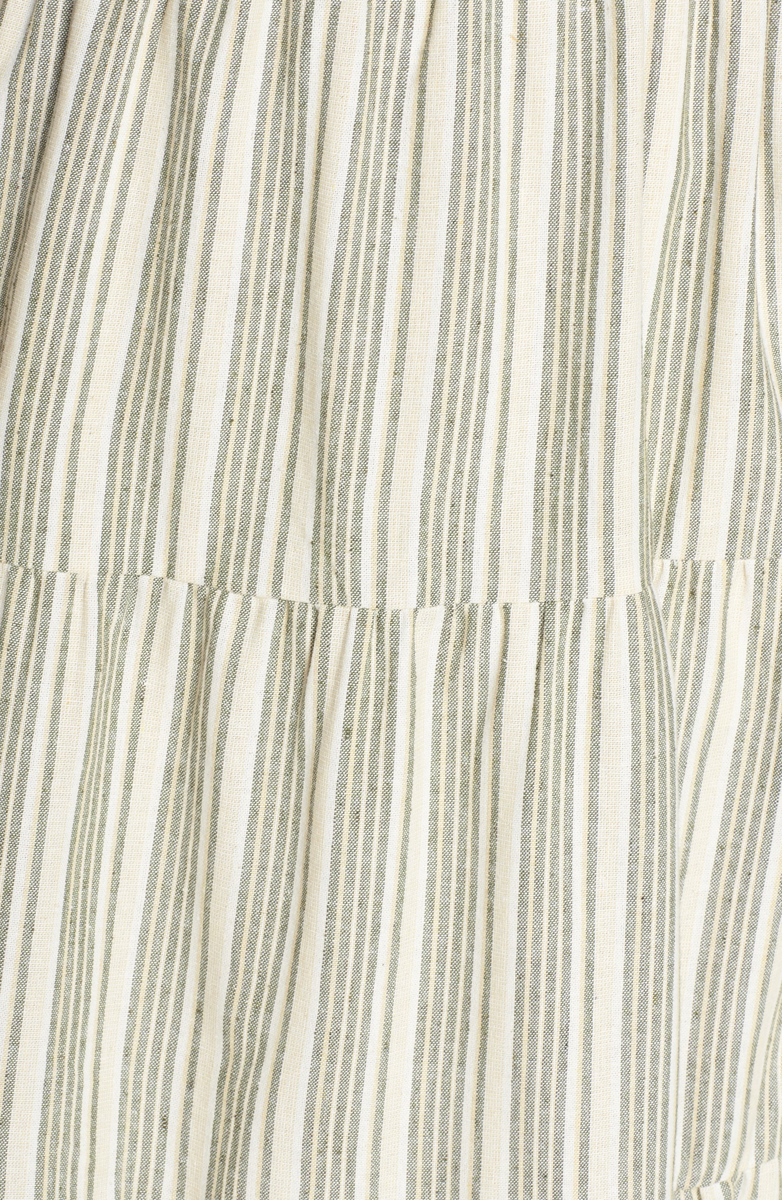 Sleeveless Stripe Midi Dress,                             Alternate thumbnail 6, color,                             300