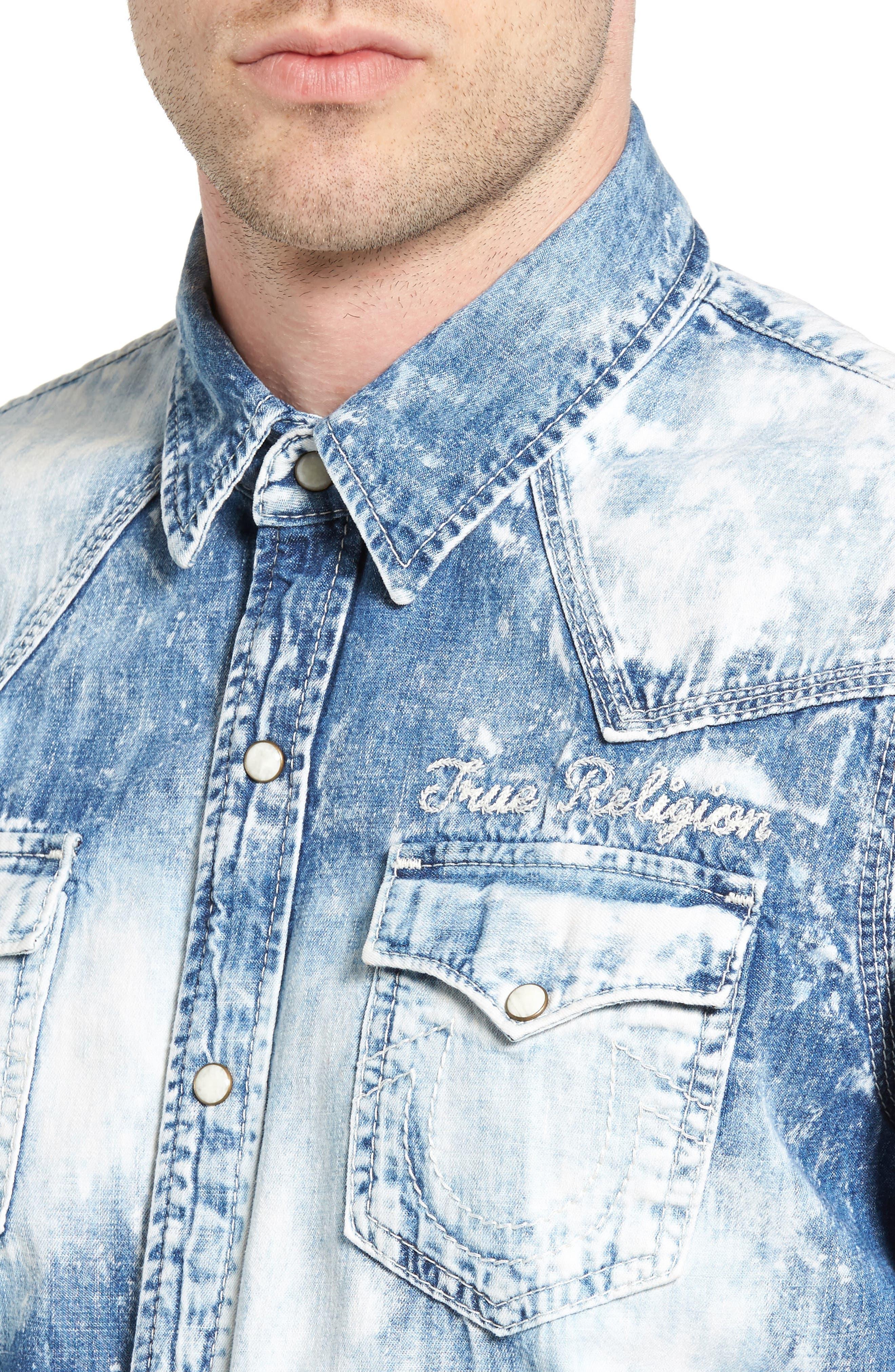 Ryan Runyon Rebel Long Sleeve Western Shirt,                             Alternate thumbnail 8, color,