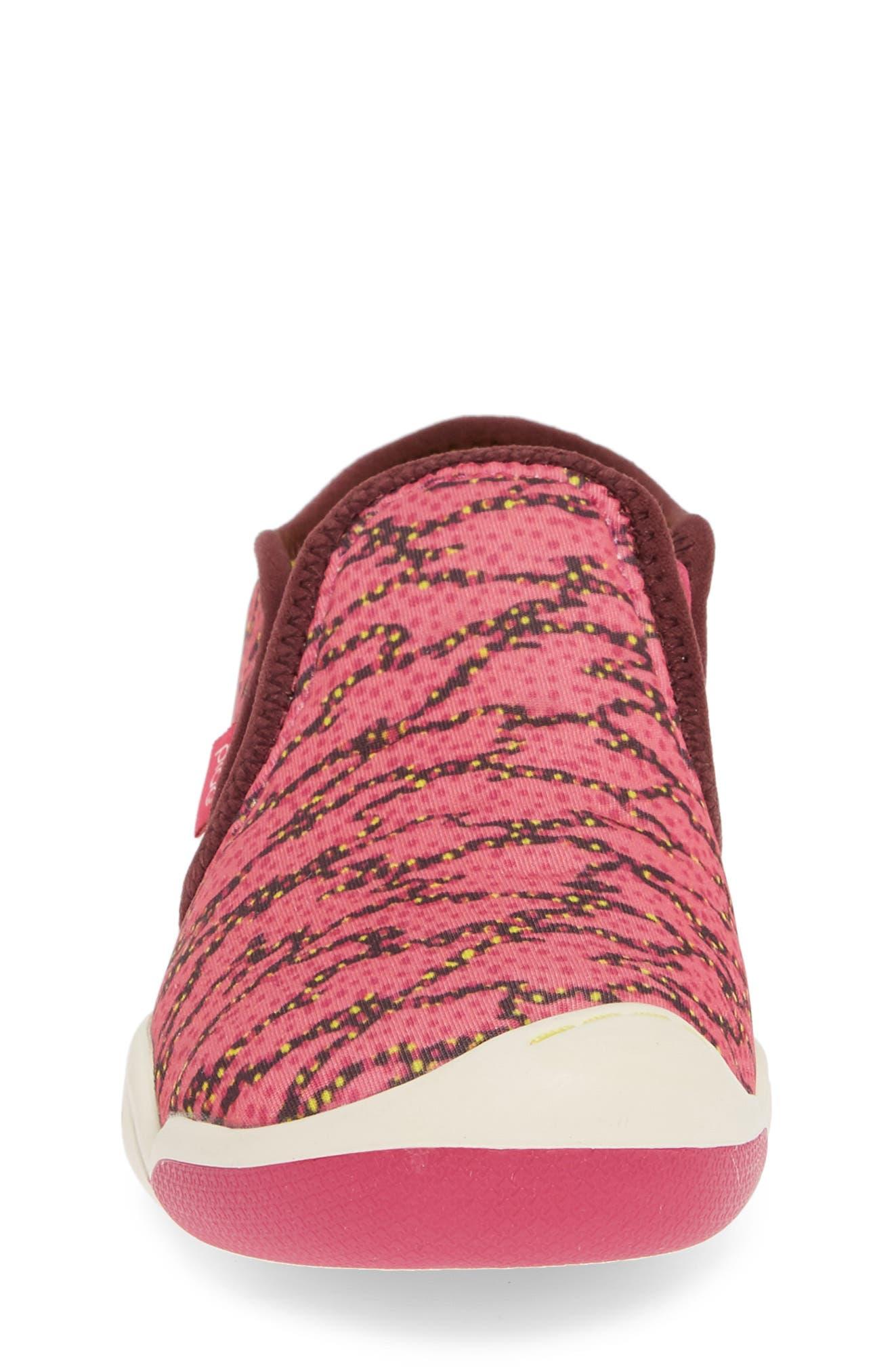 PLAE,                             Migi Slip-On Sneaker,                             Alternate thumbnail 4, color,                             ELECTRIC FUCHSIA SURGE