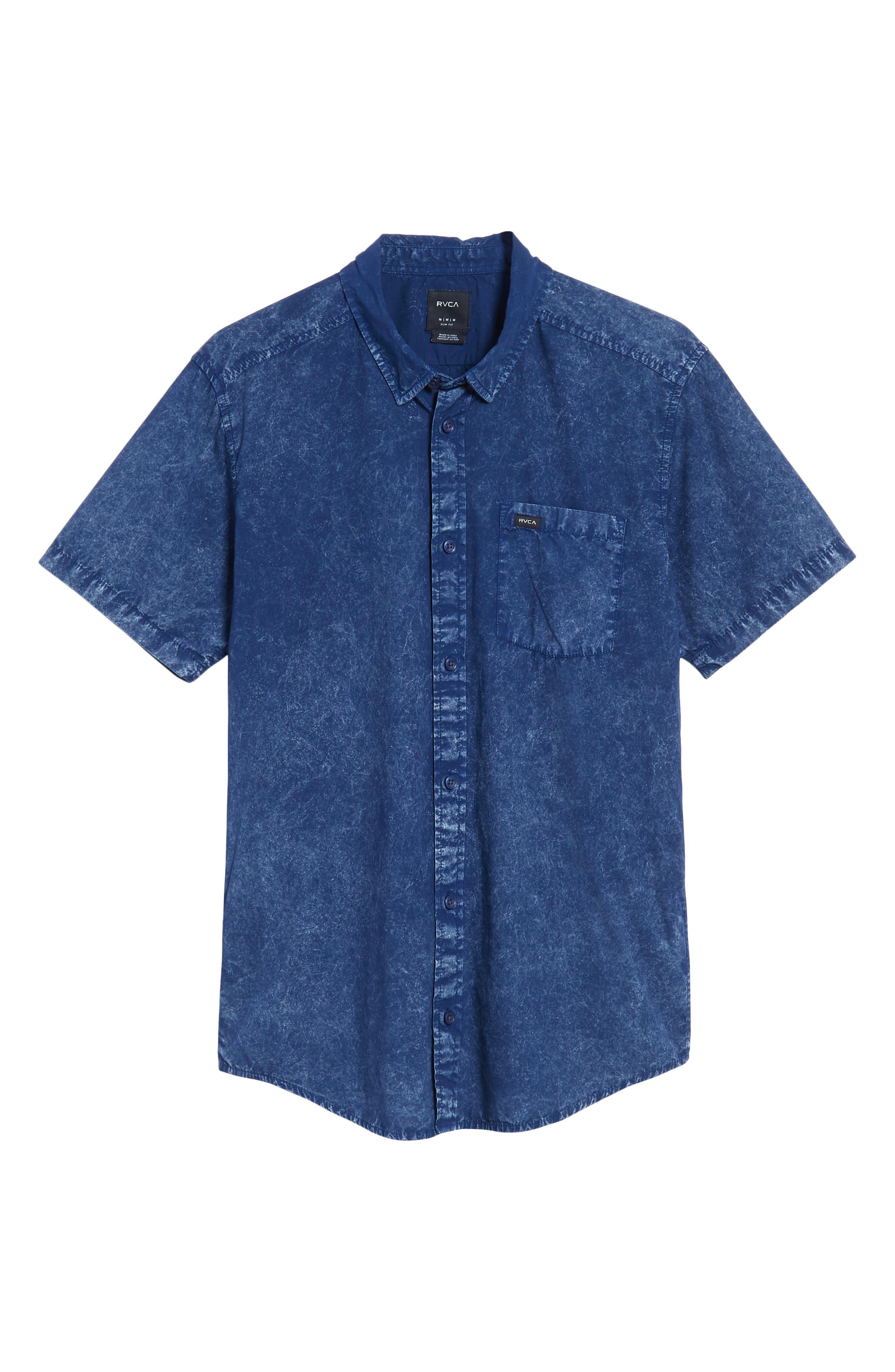 Acid Rain Denim Shirt,                             Alternate thumbnail 6, color,                             400