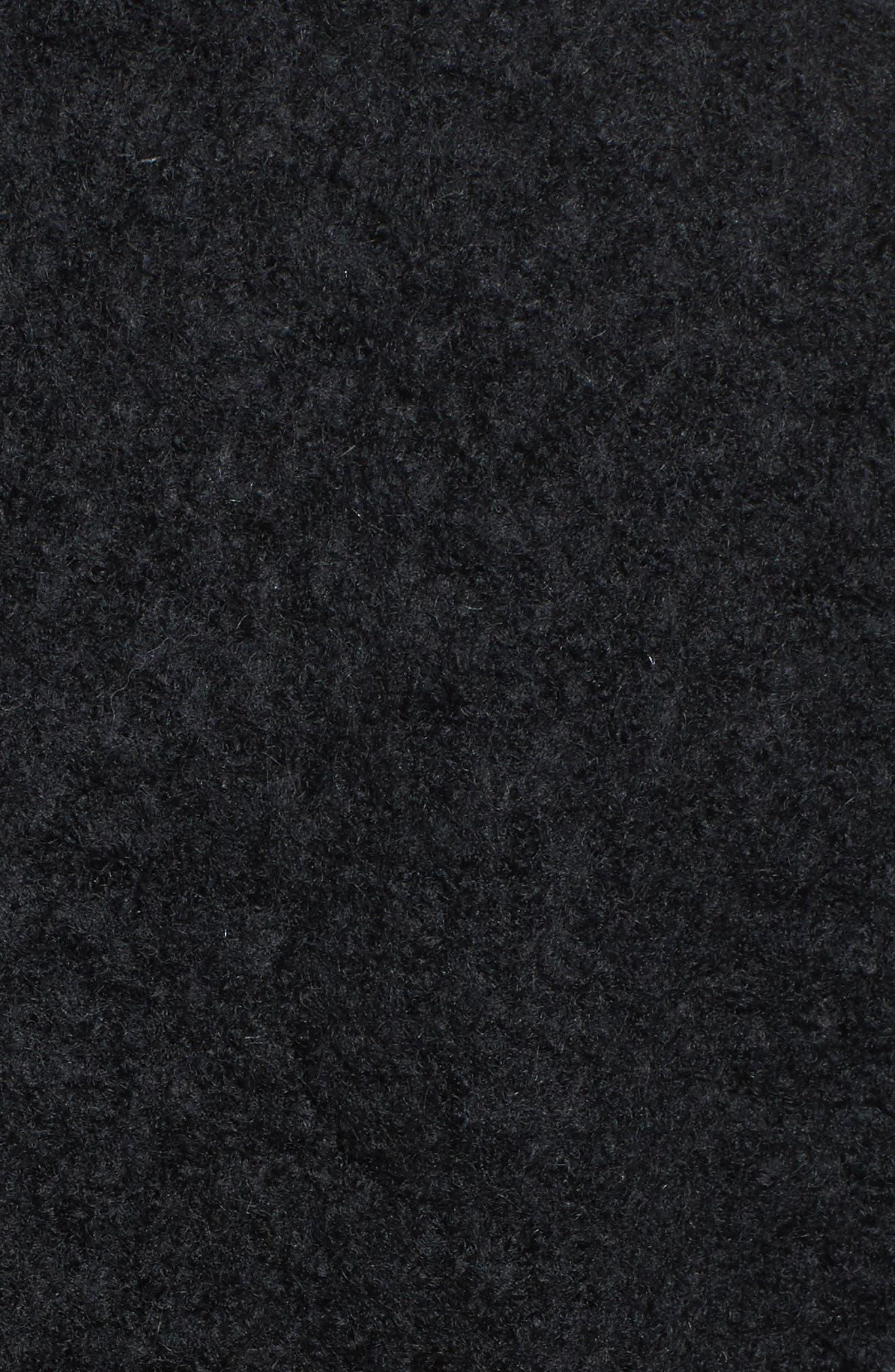 'Tessa' Boiled Wool Blend Coat,                             Alternate thumbnail 6, color,                             001