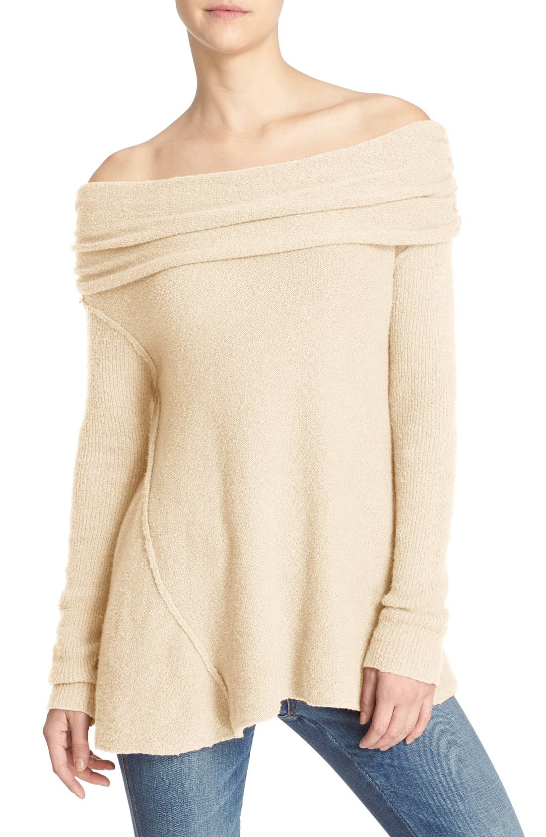 'Strawberry Fields' Off the Shoulder Sweater,                             Main thumbnail 3, color,