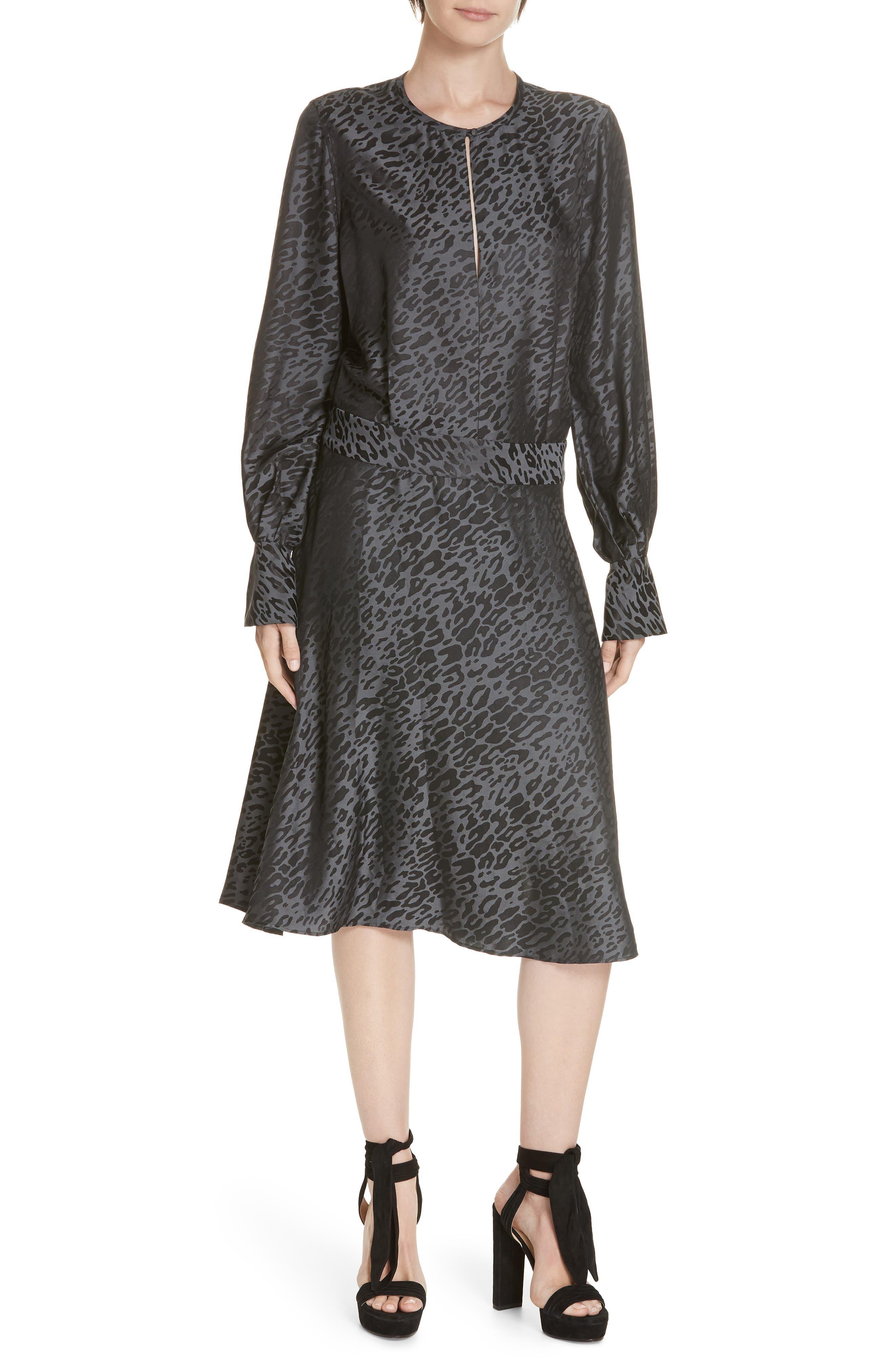 Equipment Magnolia Silk Blend Backless Dress, Black