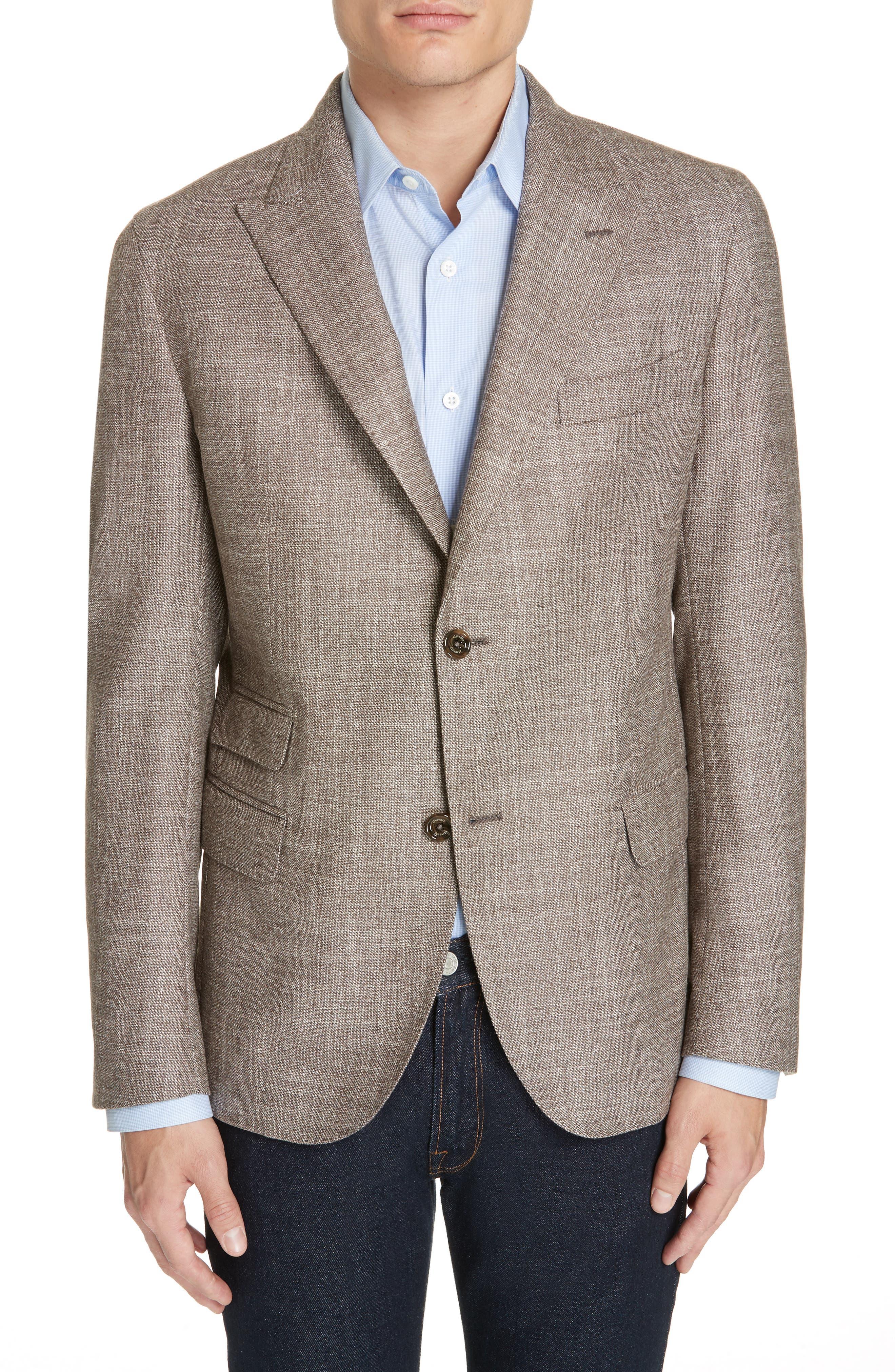 Trim Fit Wool Blend Blazer,                         Main,                         color, 250