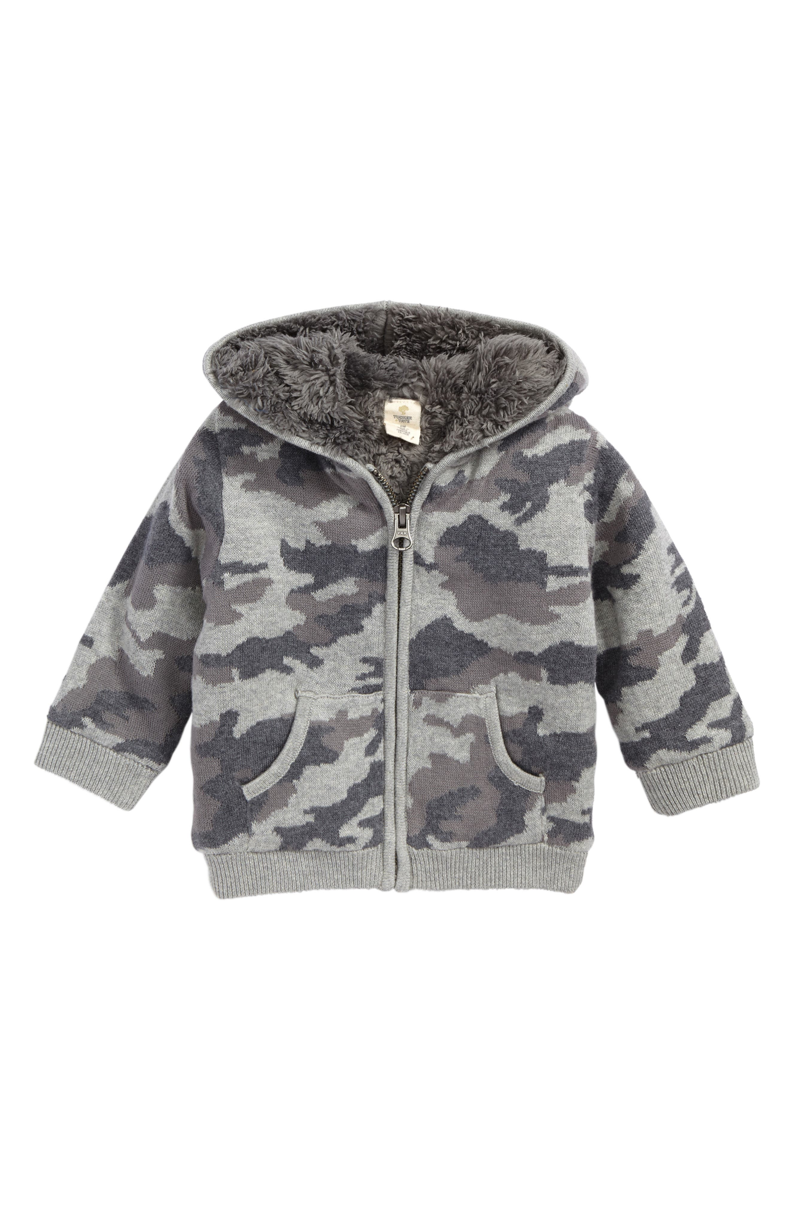 Camo Sweater Knit Hoodie,                             Main thumbnail 1, color,