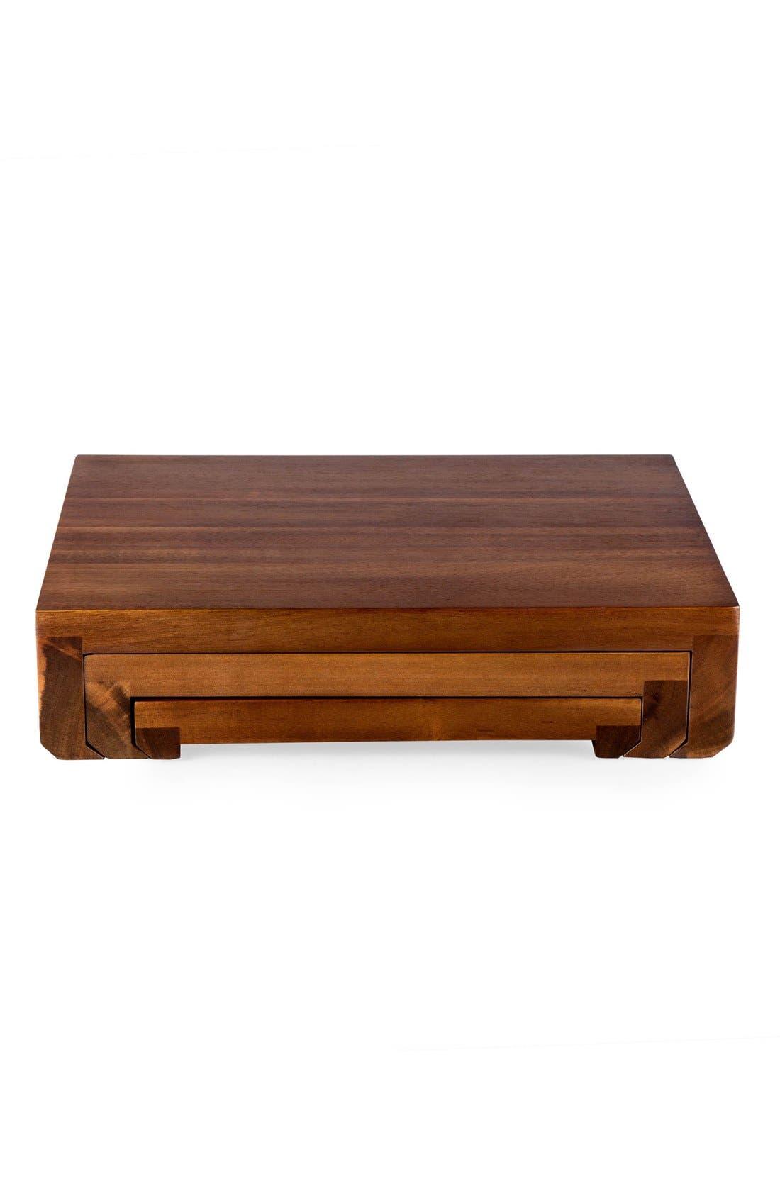 'Etage' Wood Serving Pedestals,                             Alternate thumbnail 4, color,                             200