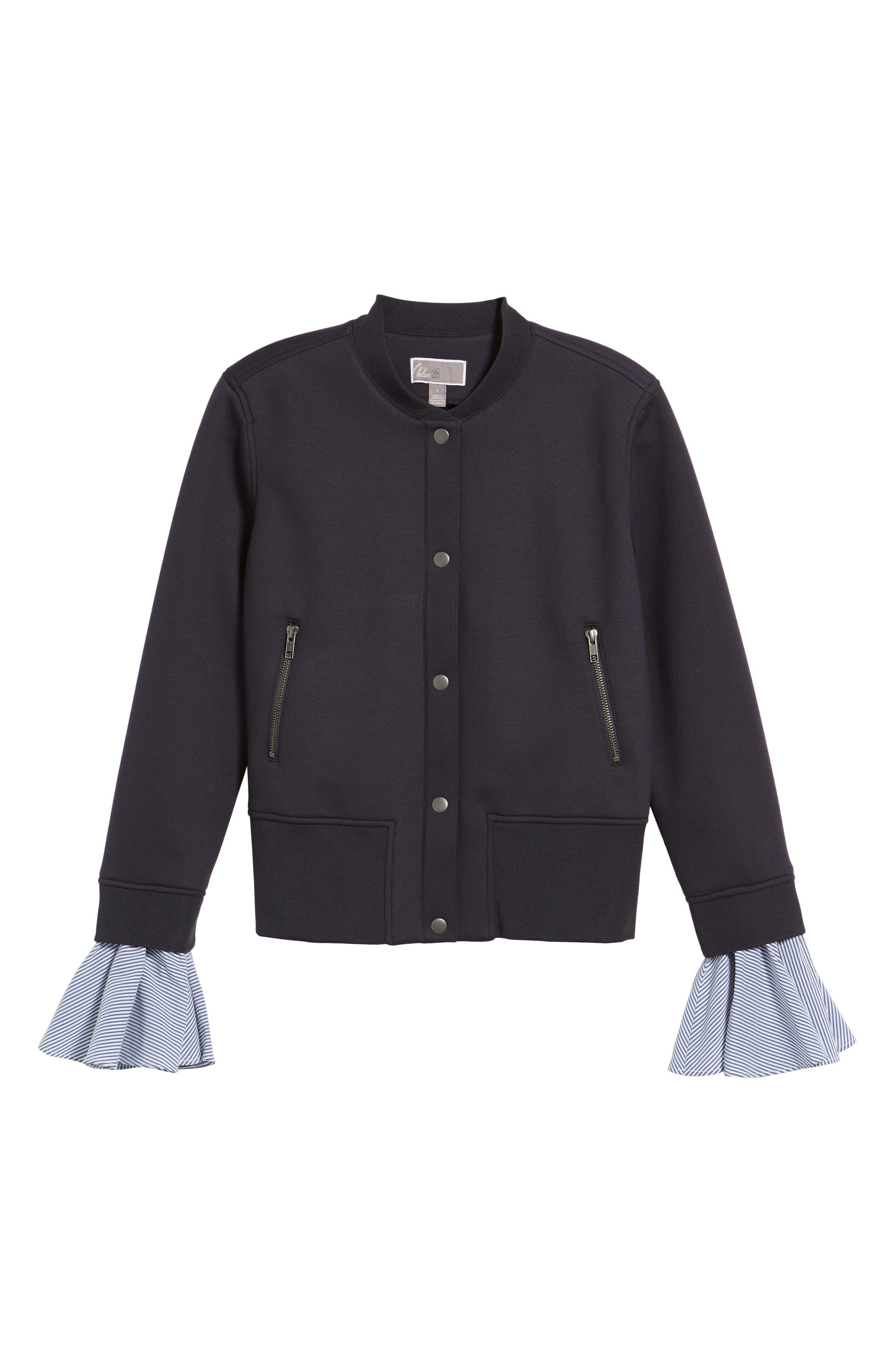 Ruffle Sleeve Jacket,                             Alternate thumbnail 6, color,                             410