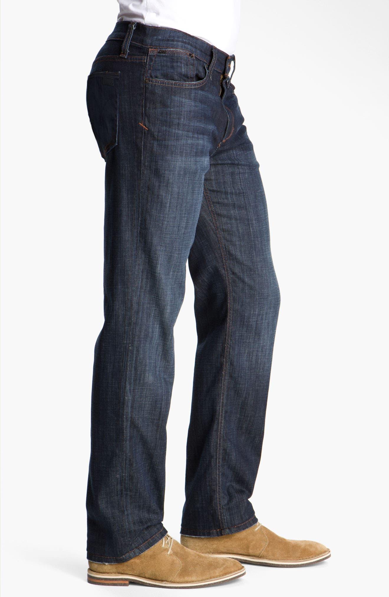 'Classic' Straight Leg Jeans,                             Alternate thumbnail 6, color,                             DIXON