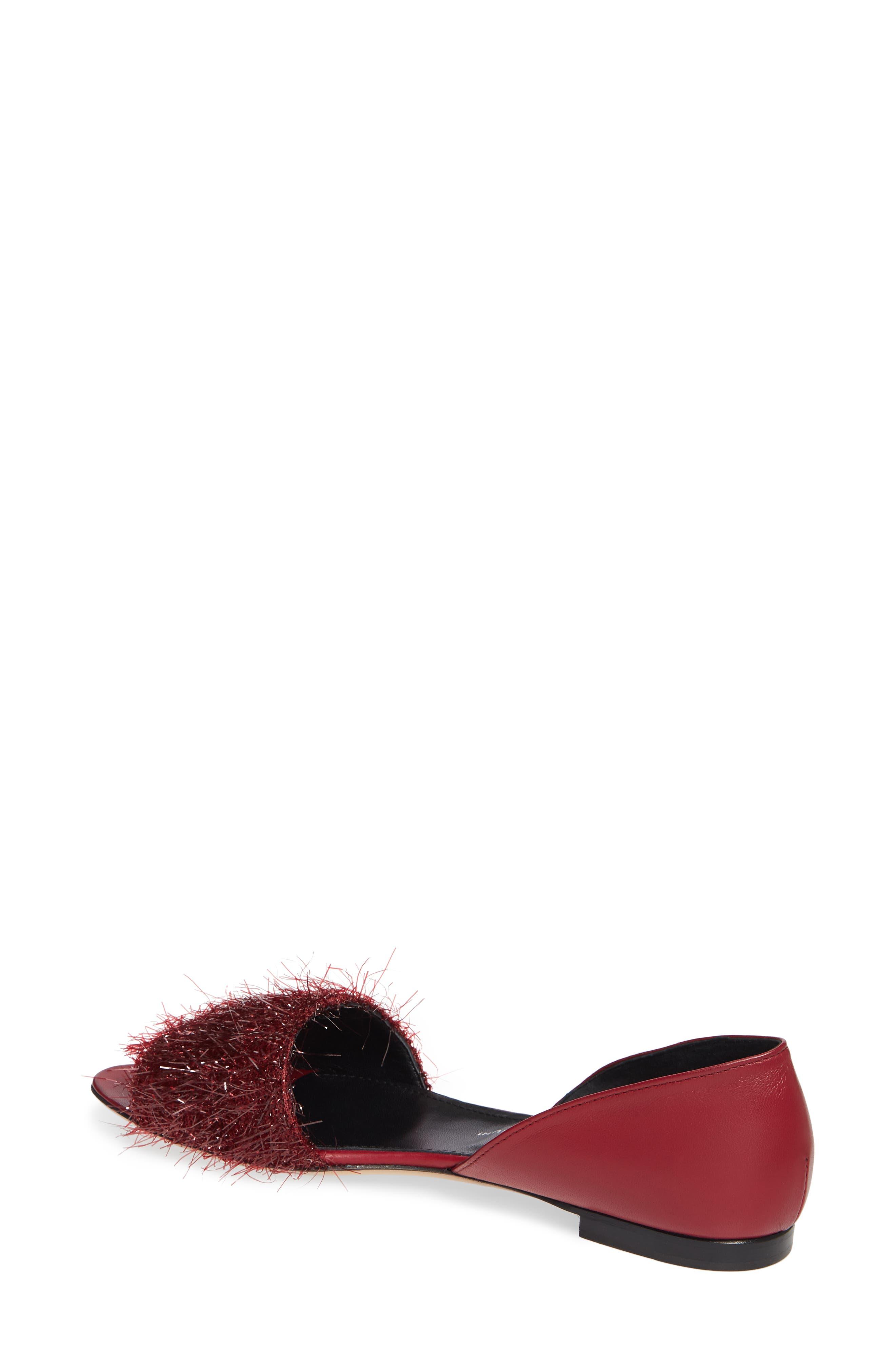 Tinsel d'Orsay Sandal,                             Alternate thumbnail 2, color,                             RED WINE