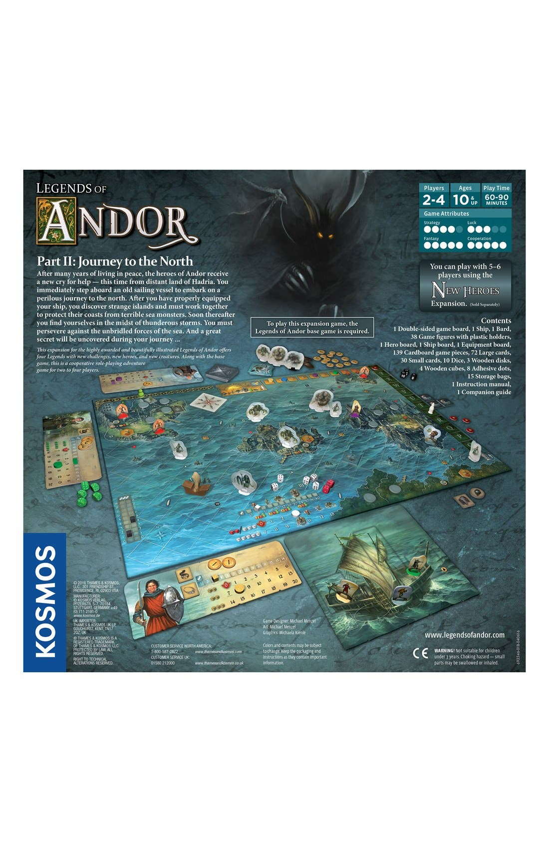 'Legends of Andor - Journey' Game Expansion Pack,                             Alternate thumbnail 3, color,                             ORANGE