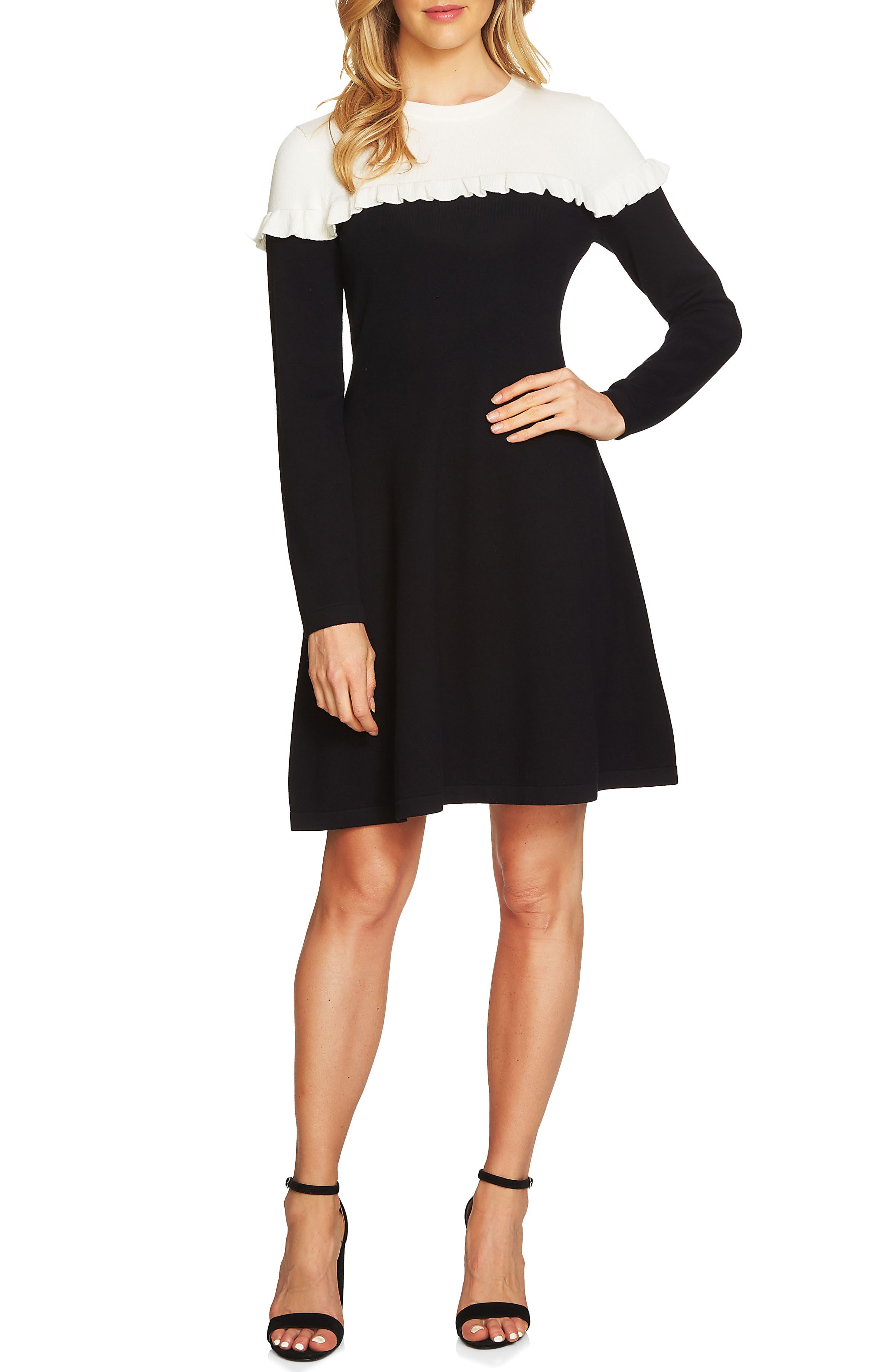 Colorblock Sweater Dress,                             Main thumbnail 1, color,                             108