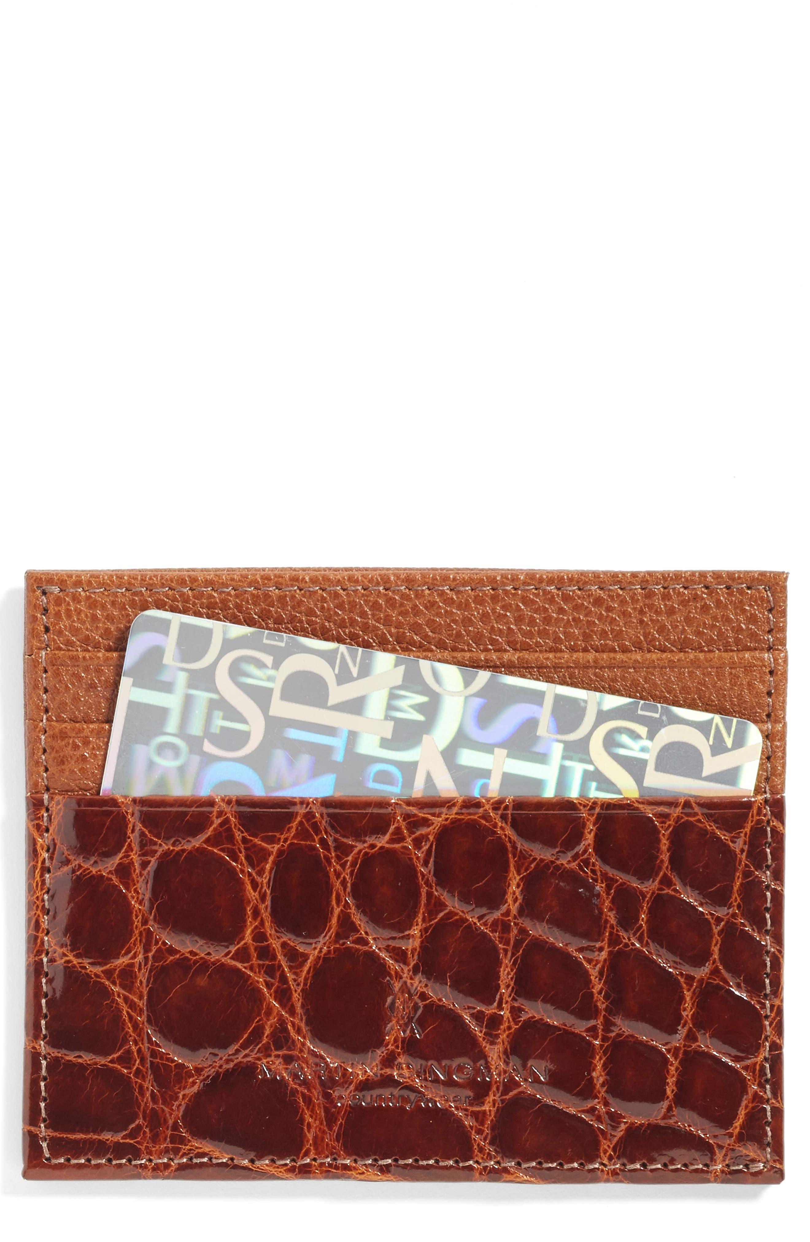 Executive Leather Card Case,                             Alternate thumbnail 4, color,