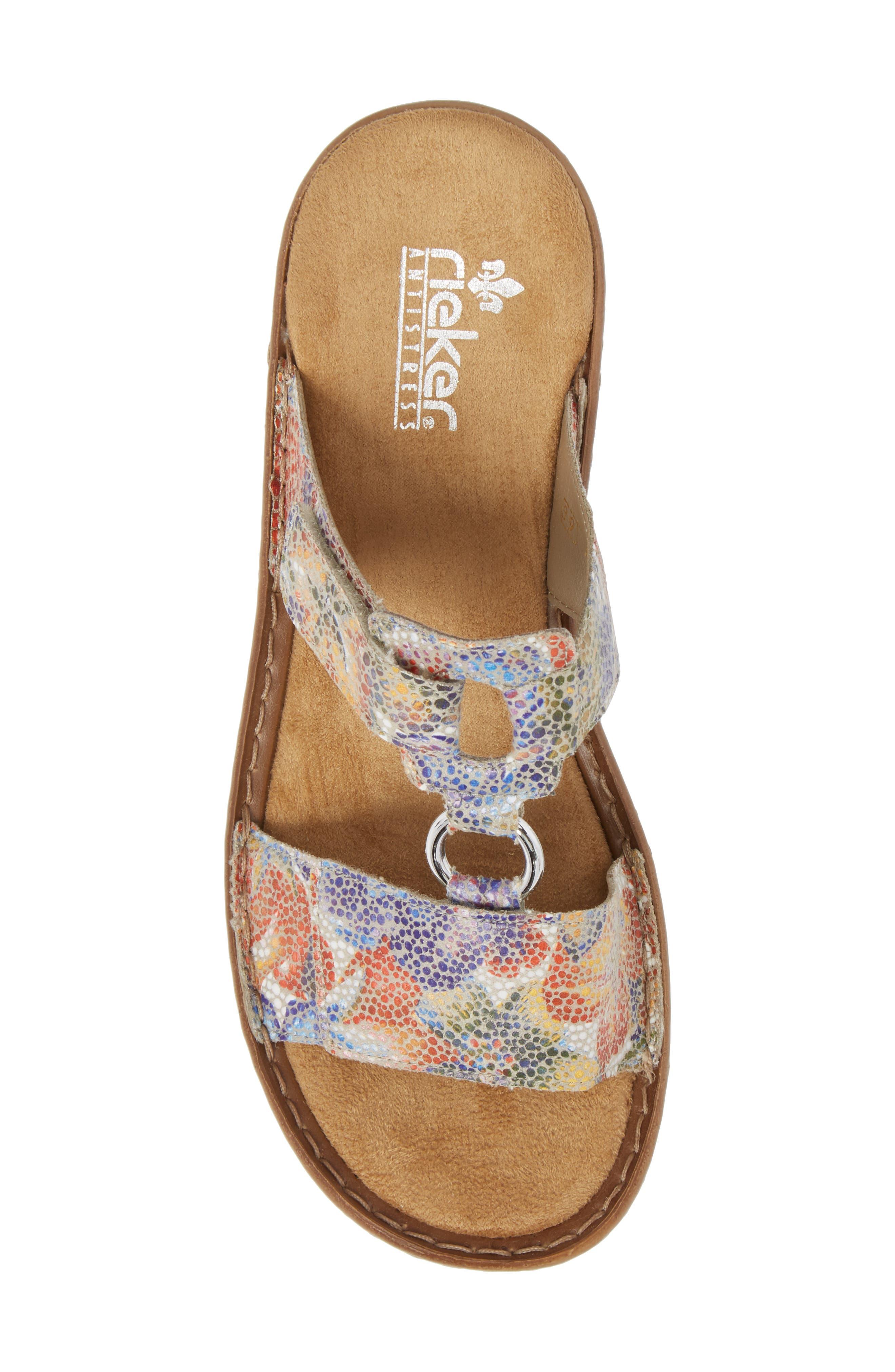 Regina P9 Slide Sandal,                             Alternate thumbnail 5, color,                             WHITE MULTI FABRIC