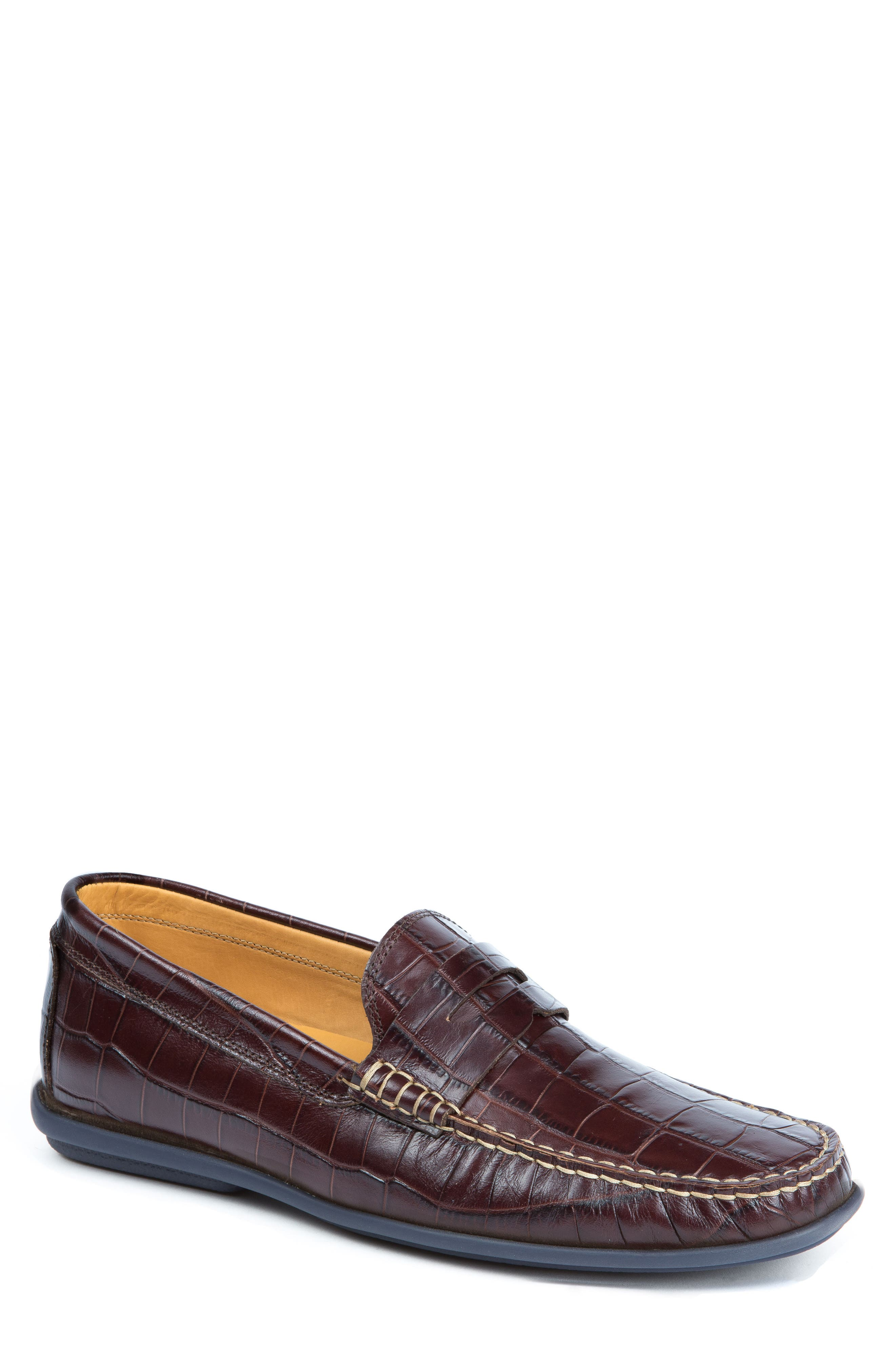'Waverly' Leather Penny Loafer,                         Main,                         color, BROWN